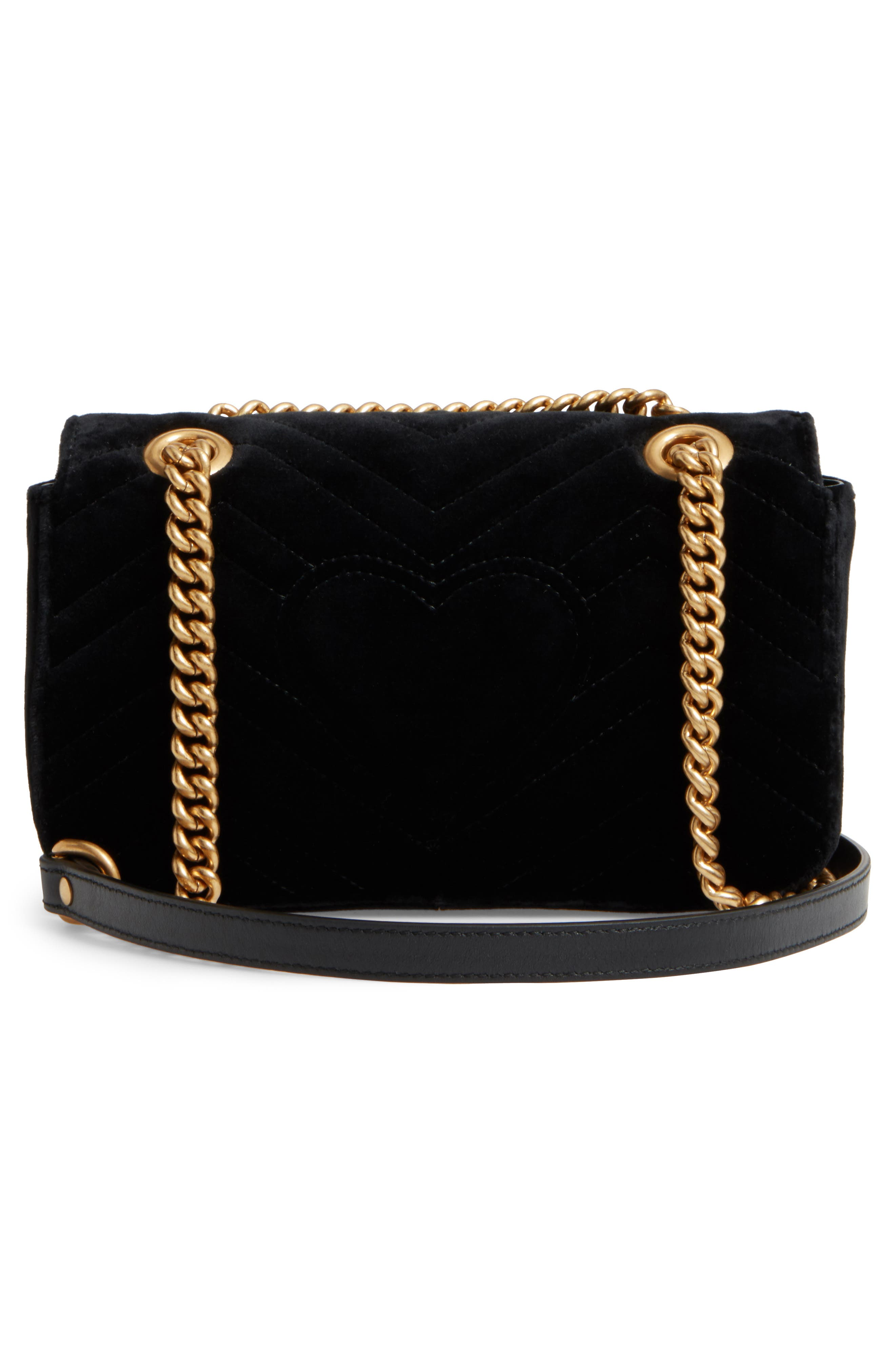 Alternate Image 3  - Gucci Small GG Marmont 2.0 Matelassé Velvet Shoulder Bag
