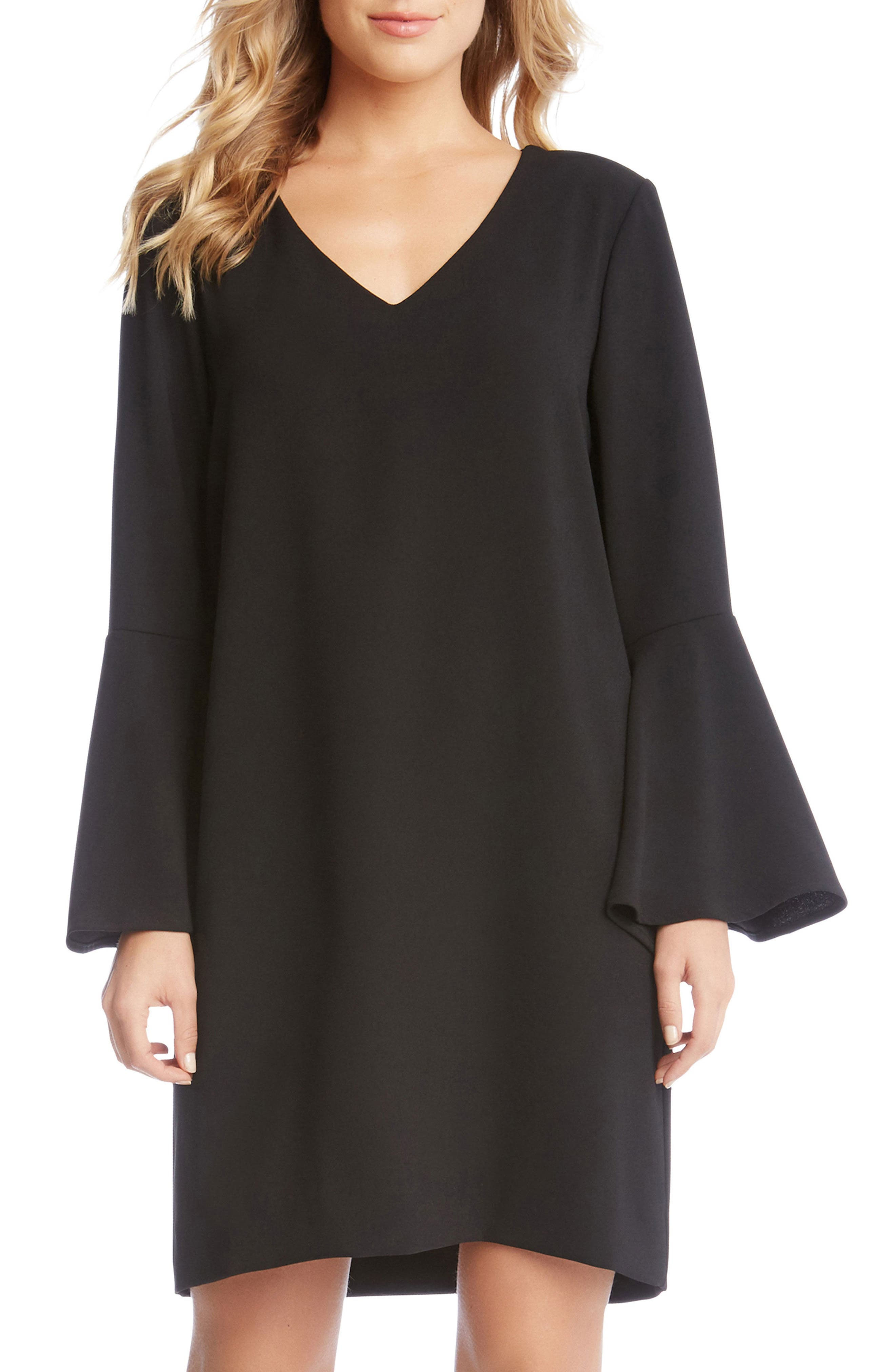 Karen Kane Madeline Bell Sleeve Shift Dress