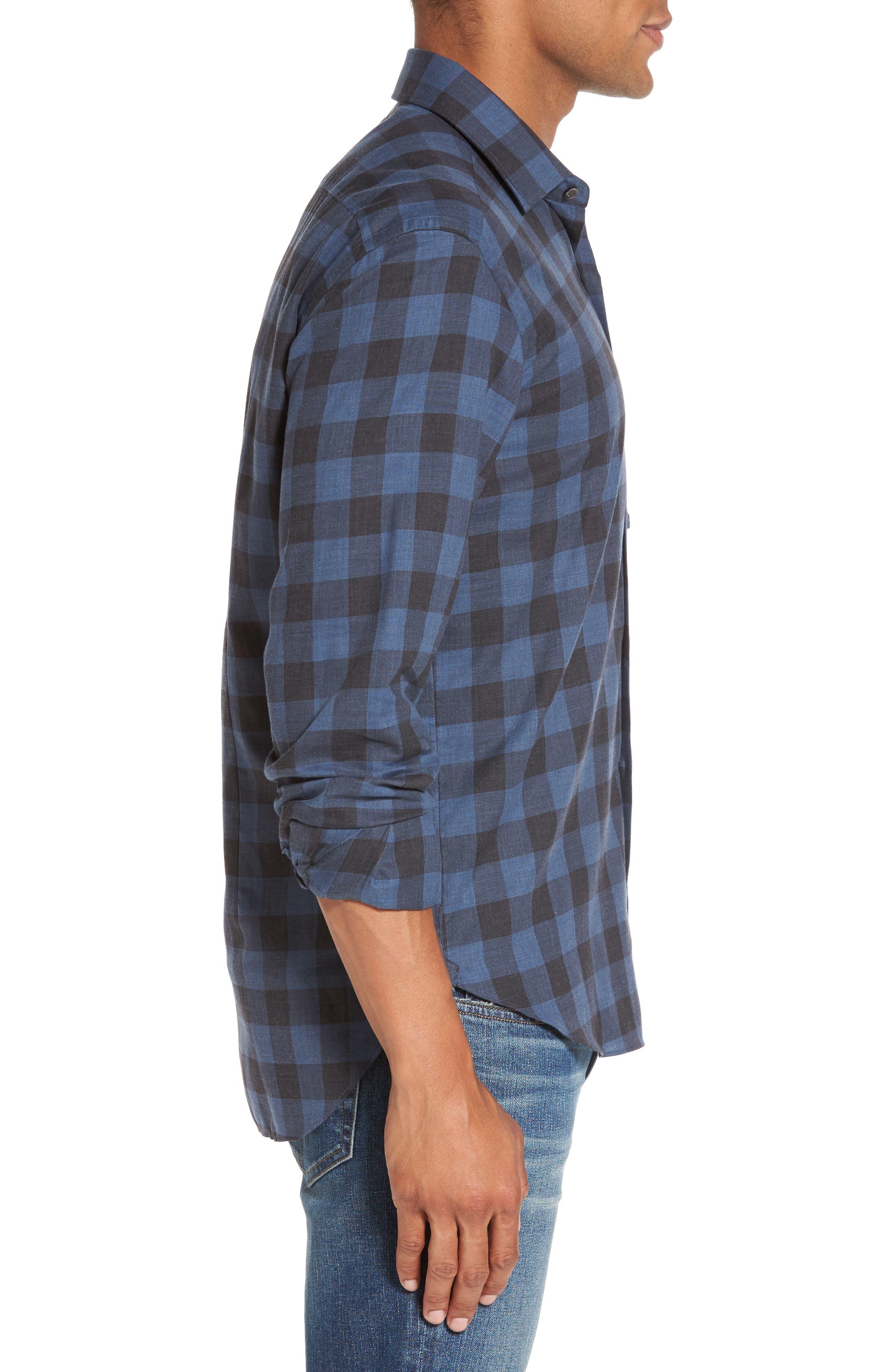Alternate Image 3  - Culturata Trim Fit Buffalo Check Sport Shirt