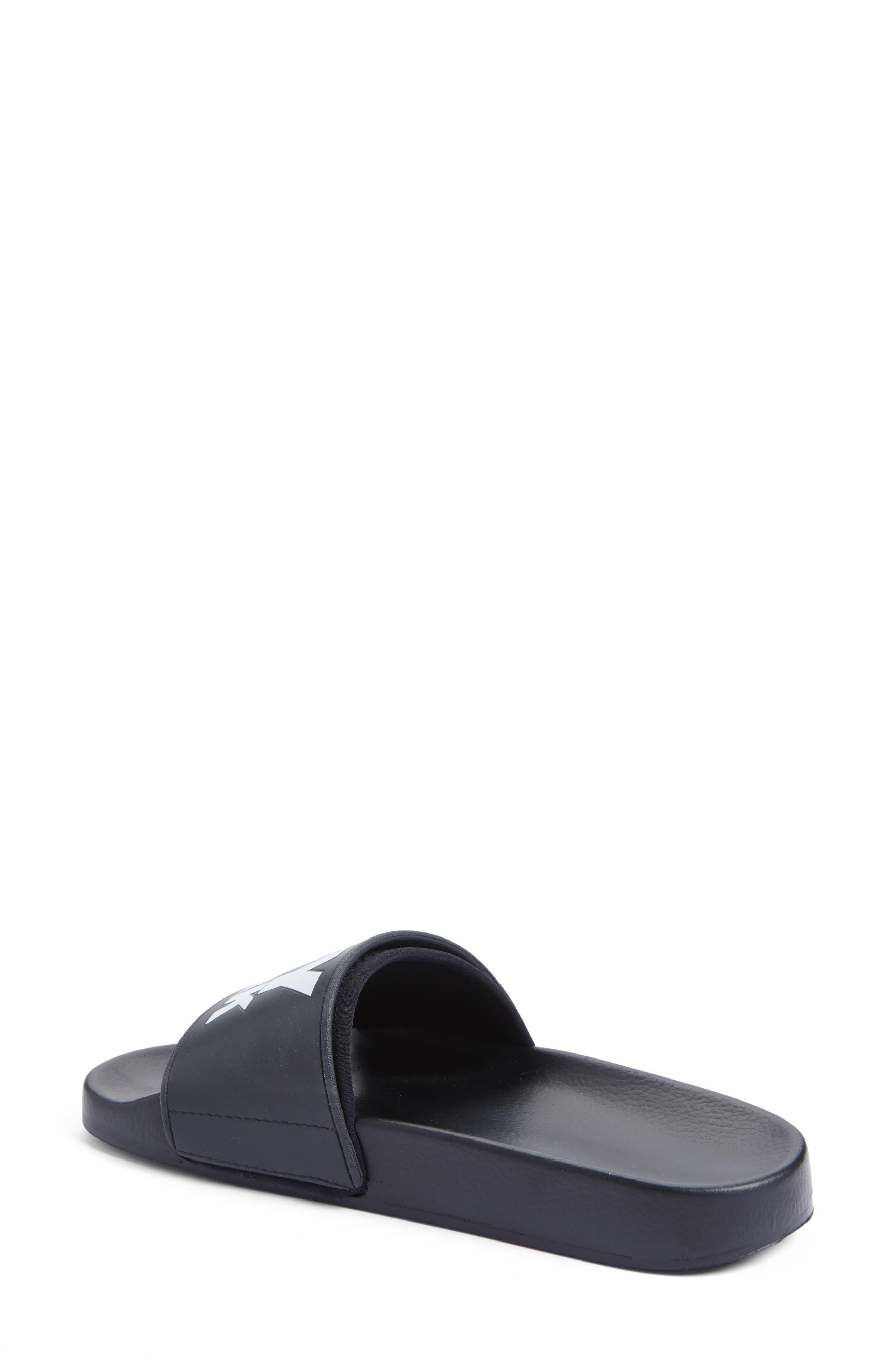 Neoprene Lined Logo Slide Sandal,                             Alternate thumbnail 2, color,                             Black
