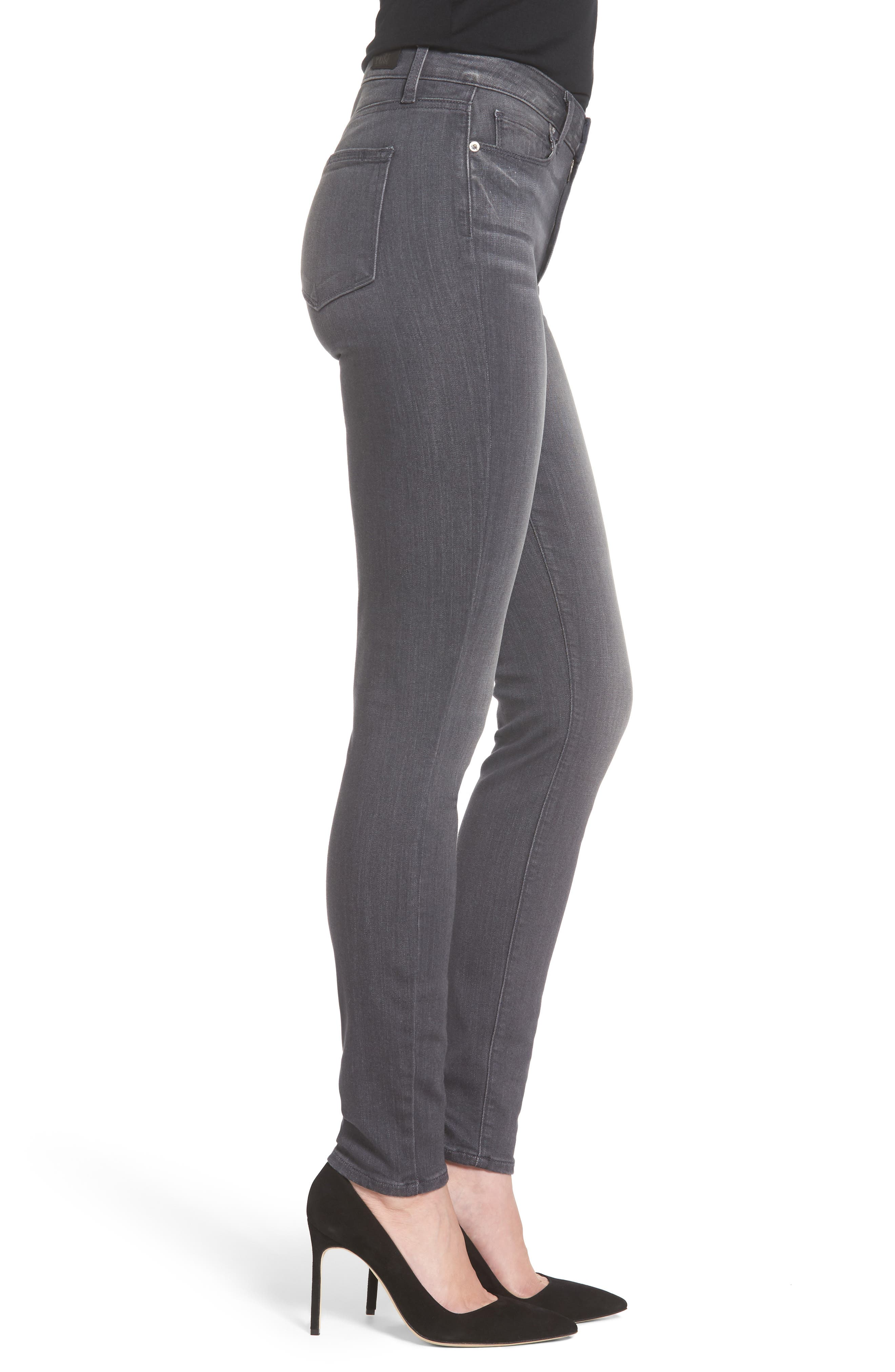 Alternate Image 3  - PAIGE Transcend - Hoxton High Waist Ultra Skinny Jeans (Summit Grey)