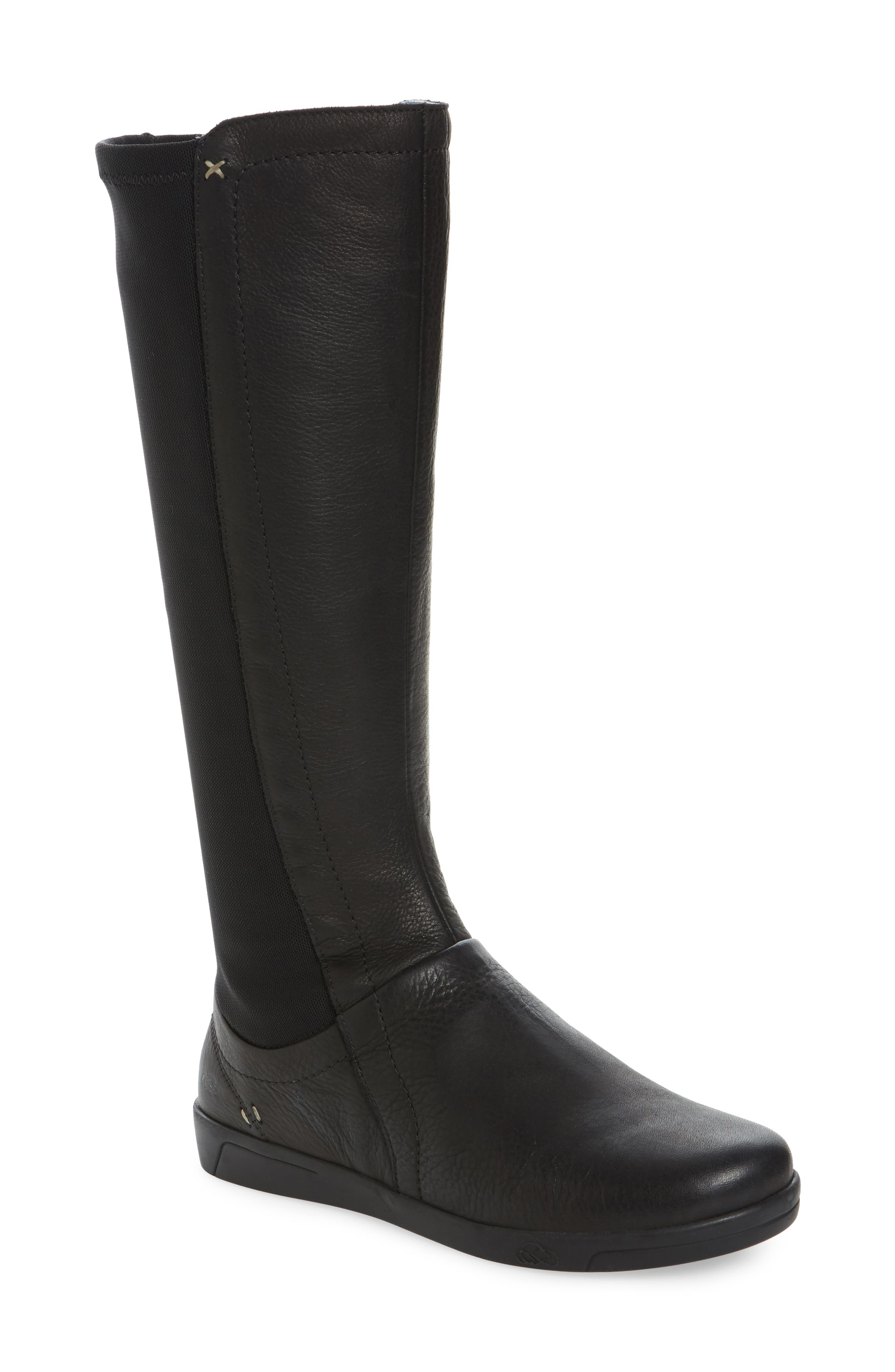 Ace Tall Boot,                         Main,                         color, Black Leather