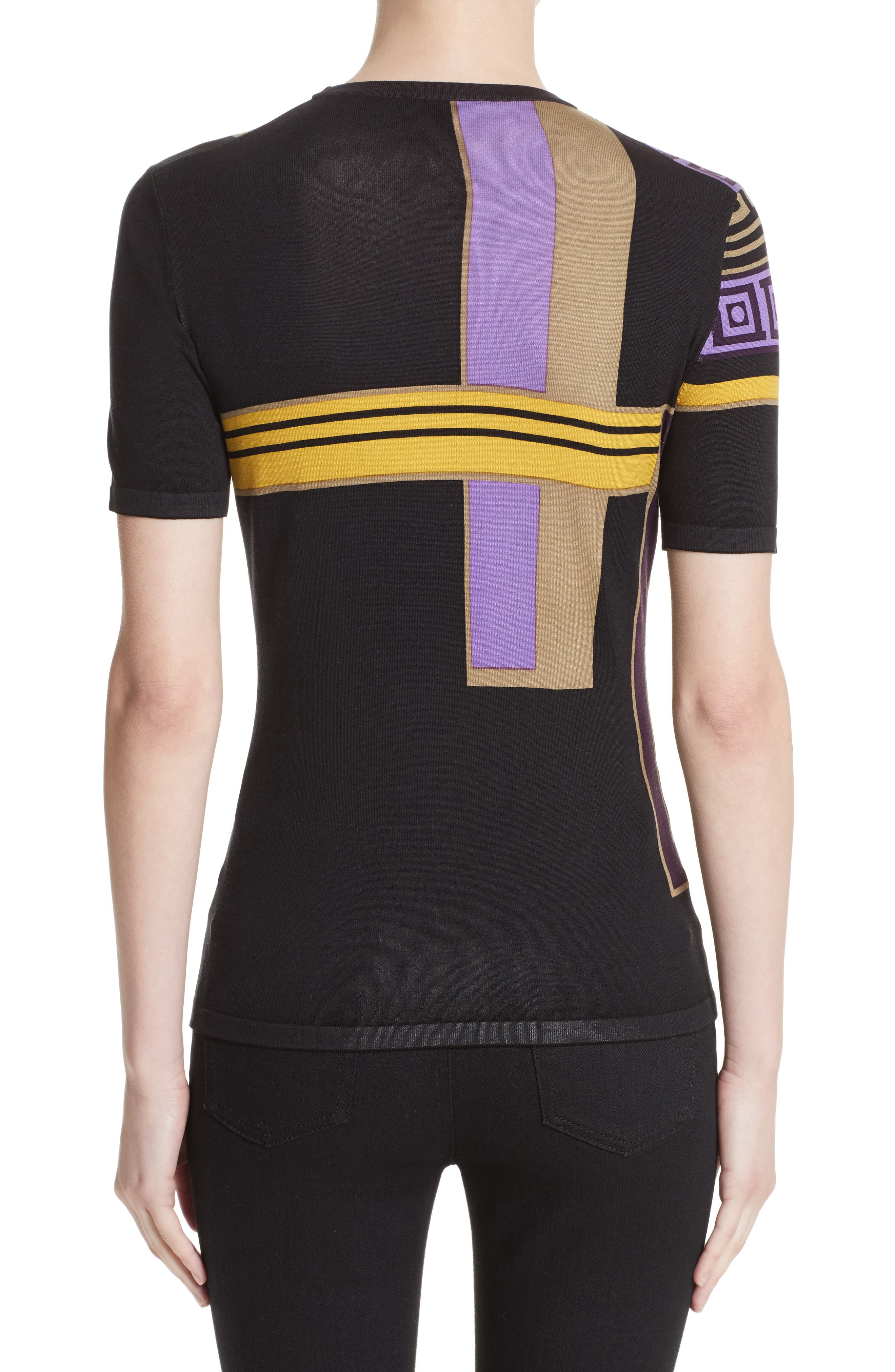 Alternate Image 2  - Versace Collection Tetris Knit Top