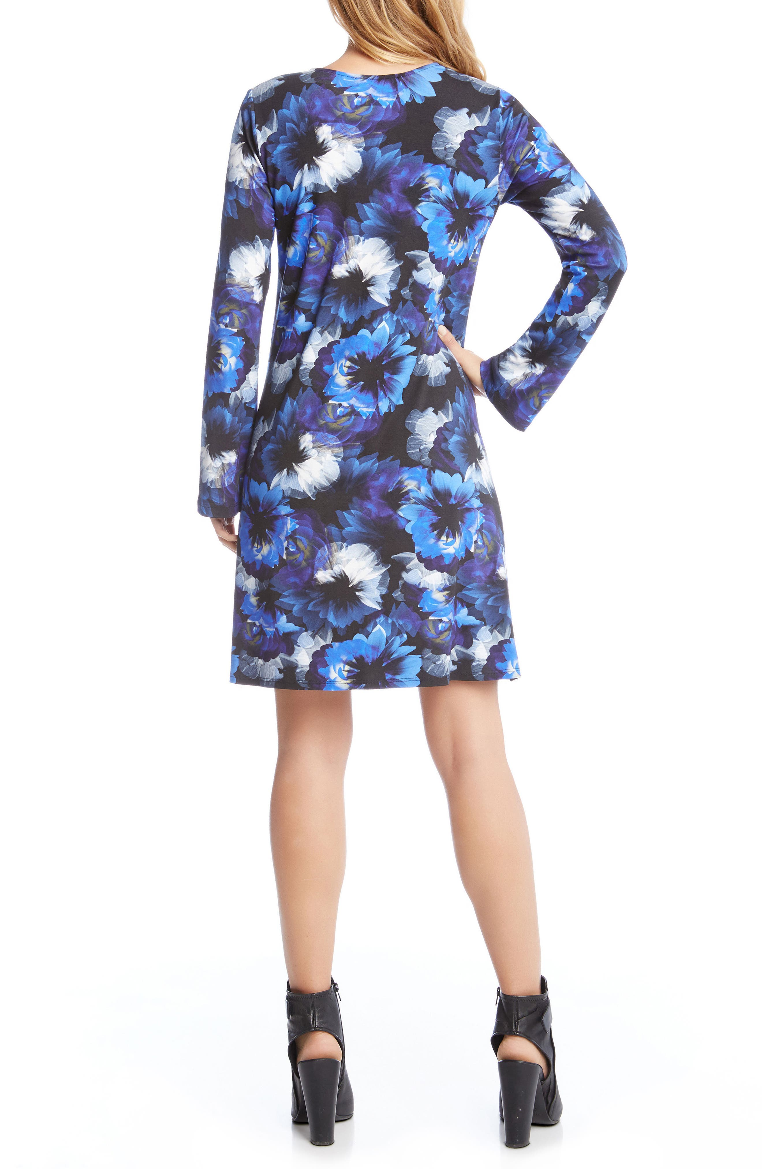 Alternate Image 3  - Karen Kane Taylor Midnight Floral Print A-Line Dress