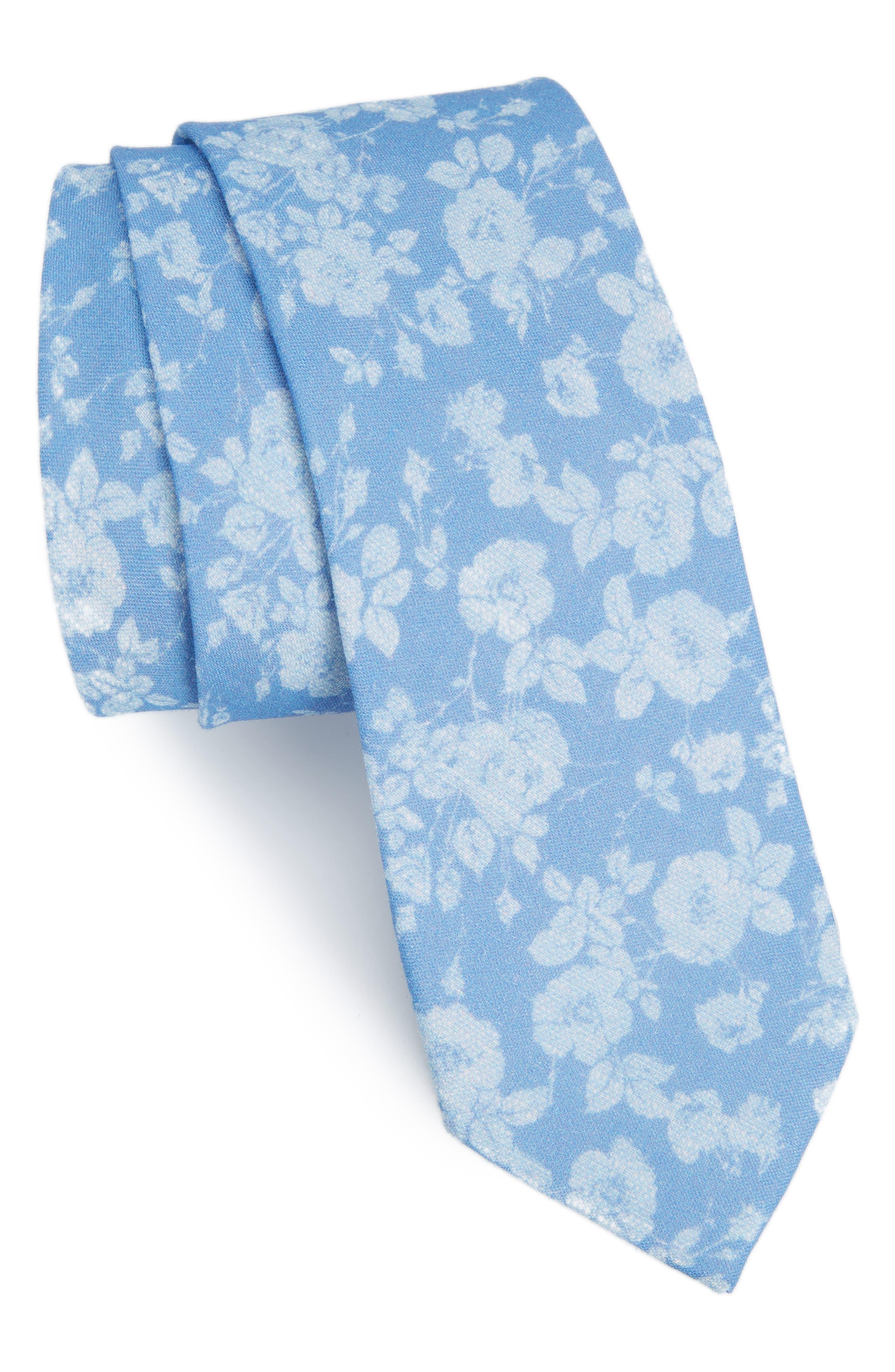 THE TIE BAR Buds Linen Tie