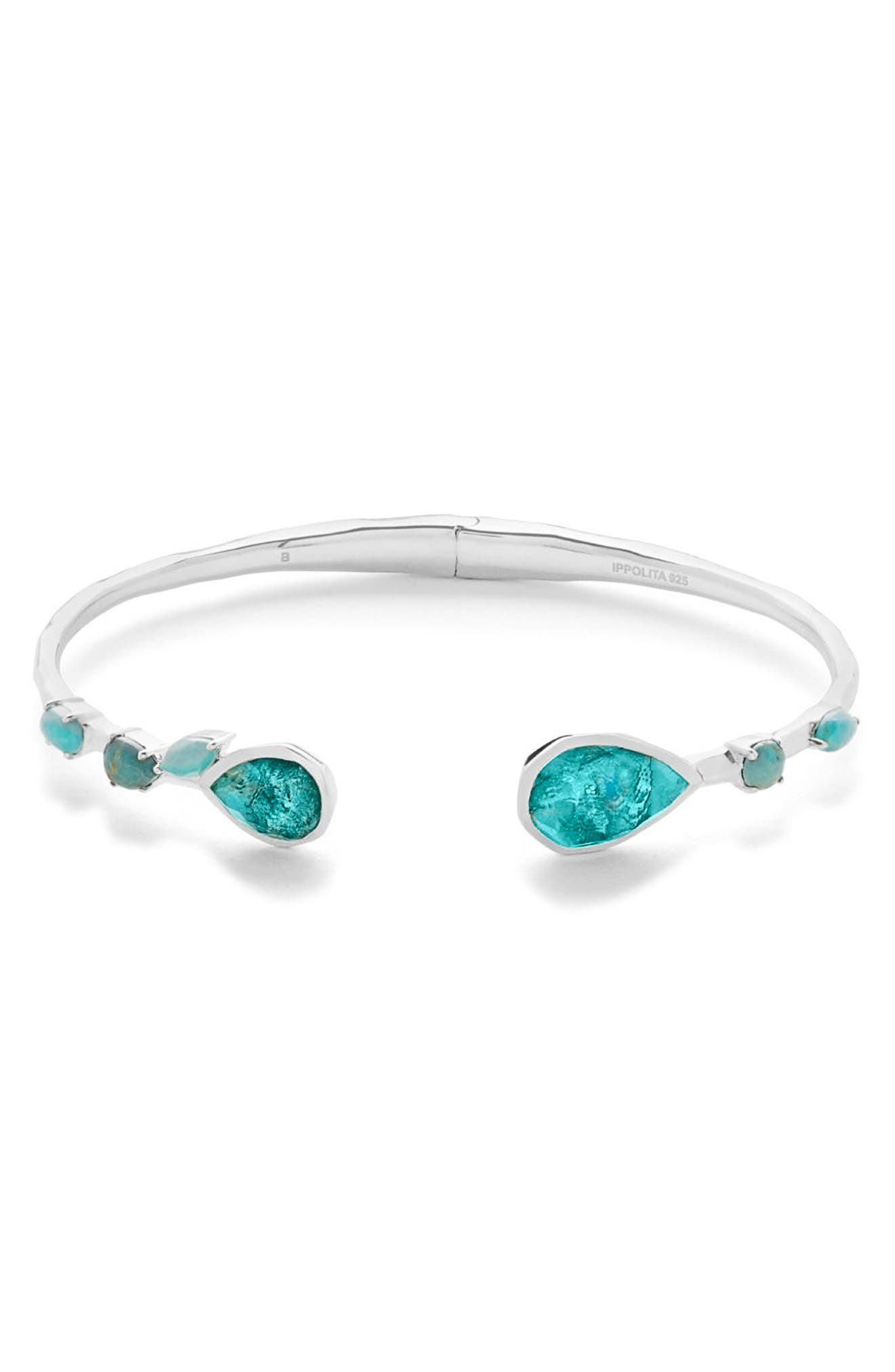 Rock Candy Skinny Cuff,                             Main thumbnail 1, color,                             Turquoise