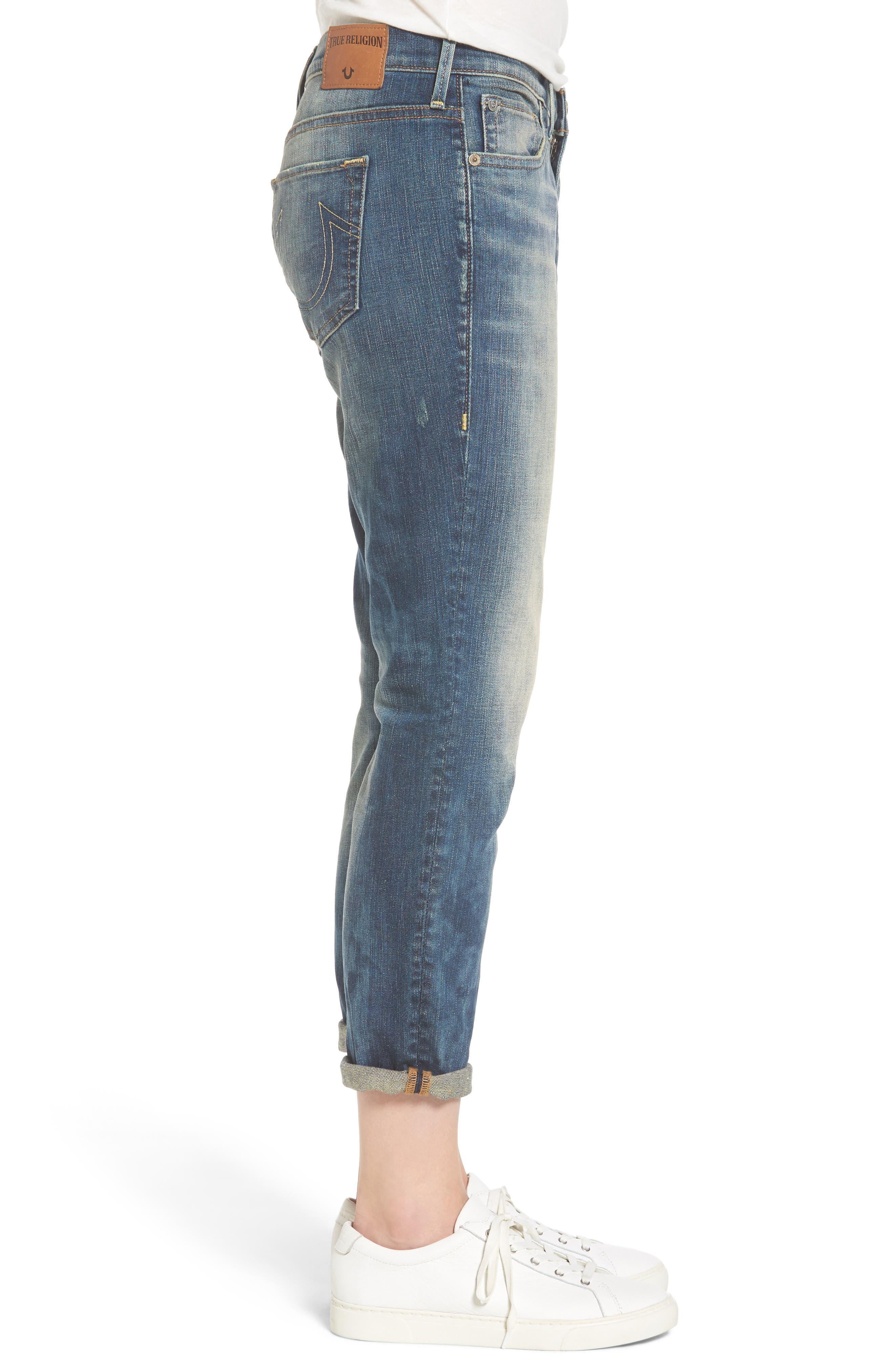Alternate Image 3  - True Religion Brand Jeans Cameron Slim Boyfriend Jeans (Distillery)