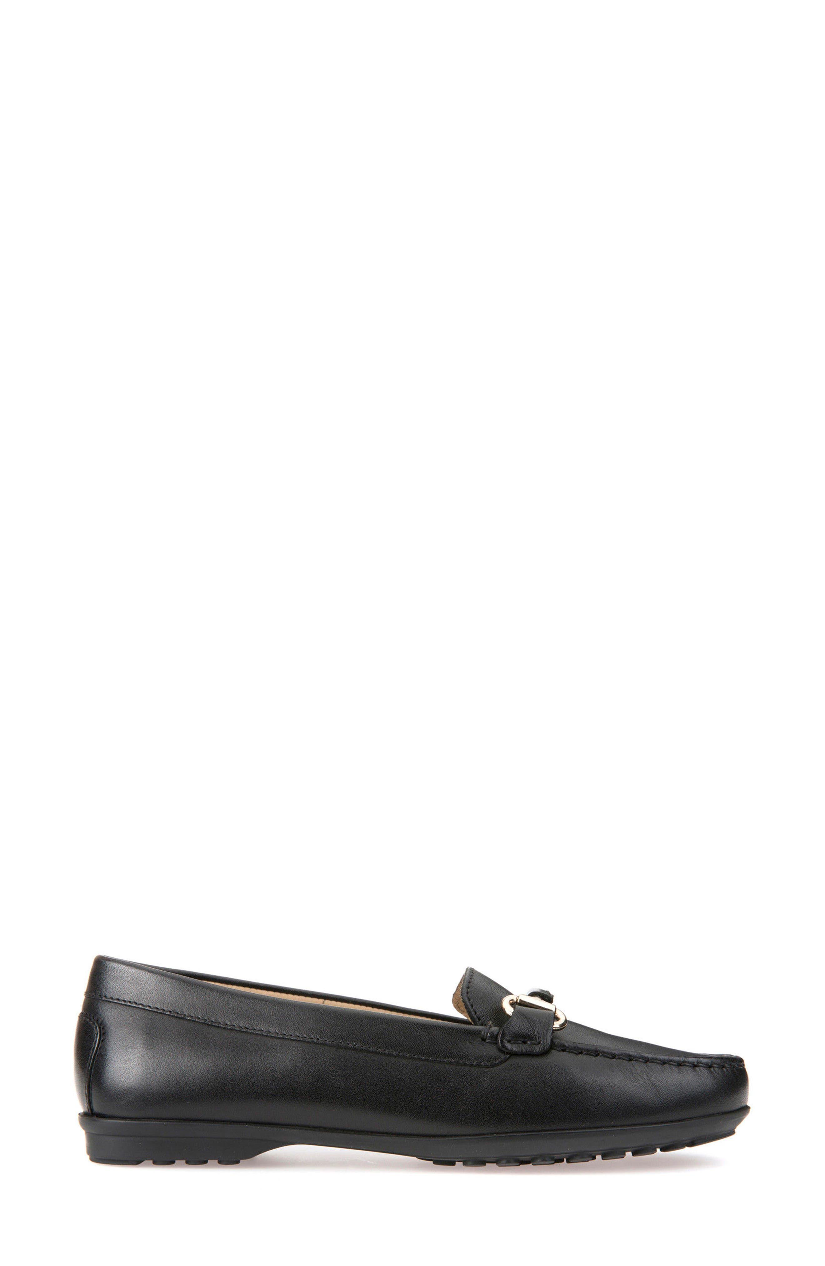 Elidia Buckle Loafer,                             Alternate thumbnail 3, color,                             Black Leather