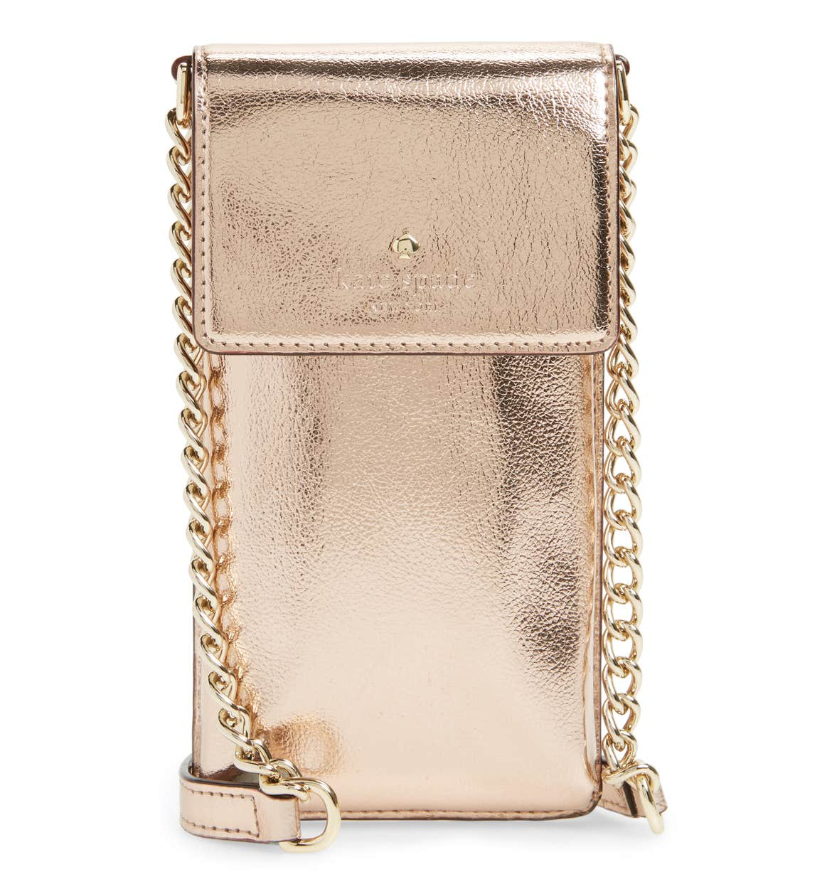 kate spade metallic leather smartphone crossbody bag