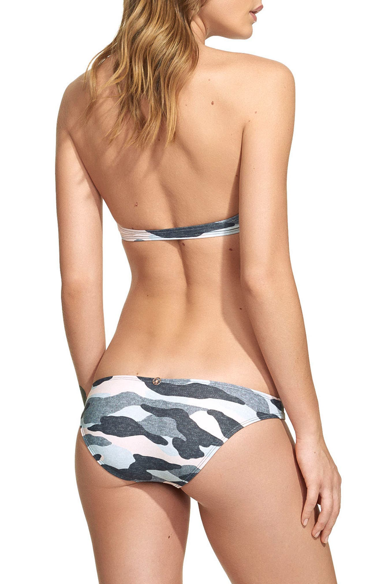 Camo Bikini Bottoms,                             Alternate thumbnail 2, color,                             Blue Multi