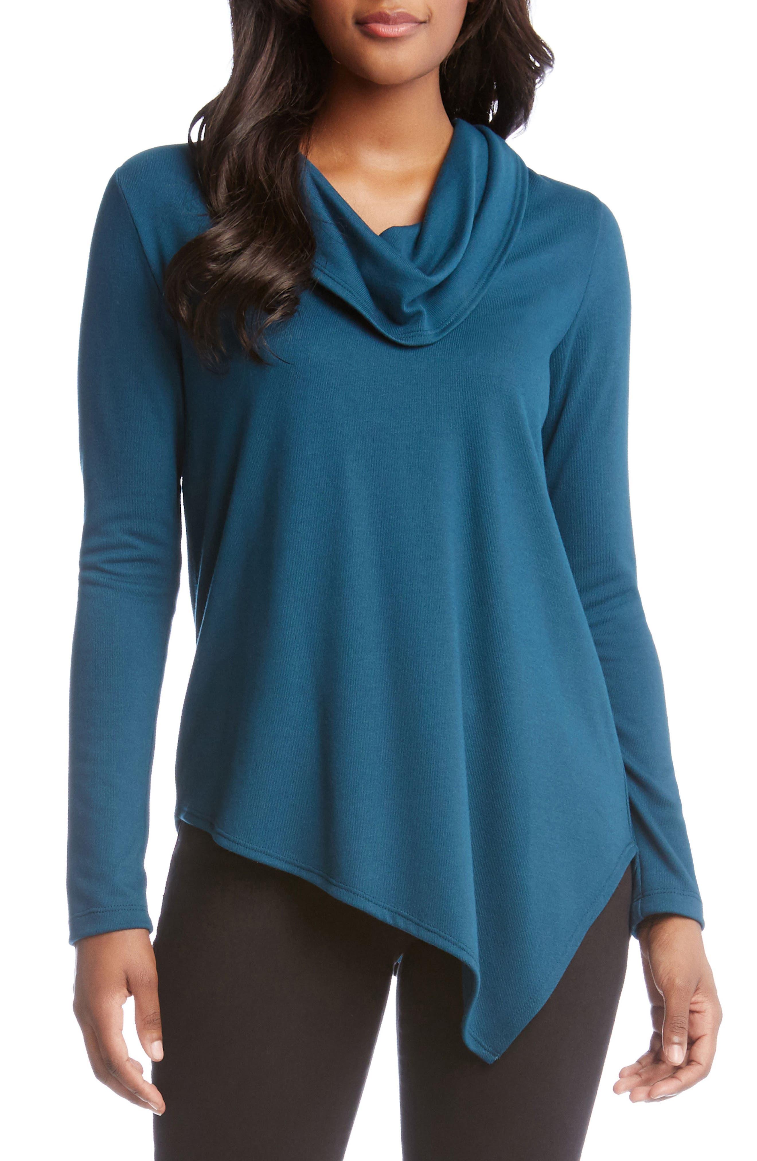 Karen Kane Cowl Neck Asymmetrical Sweater