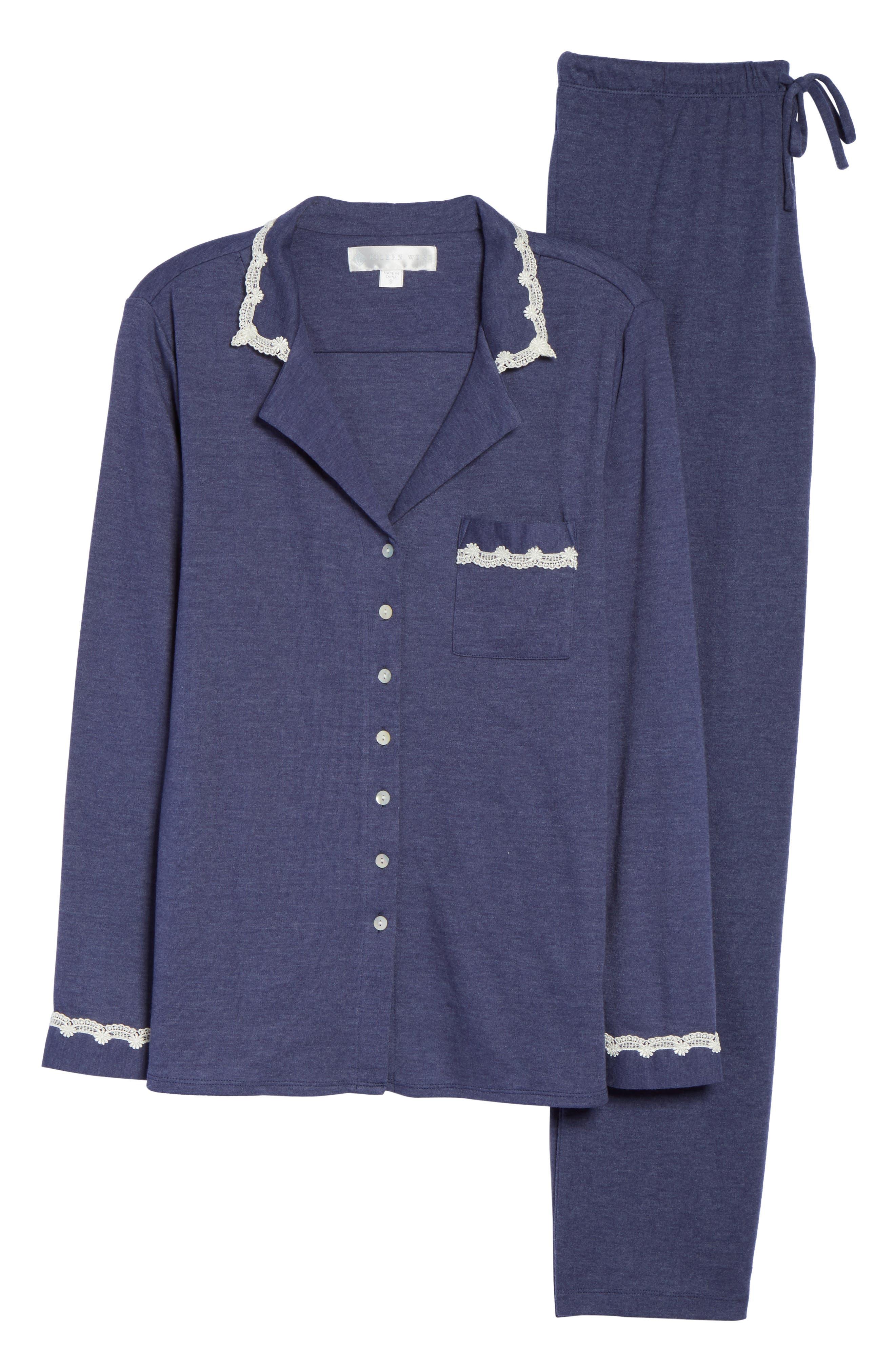 Jersey Pajamas,                             Alternate thumbnail 6, color,                             Blue