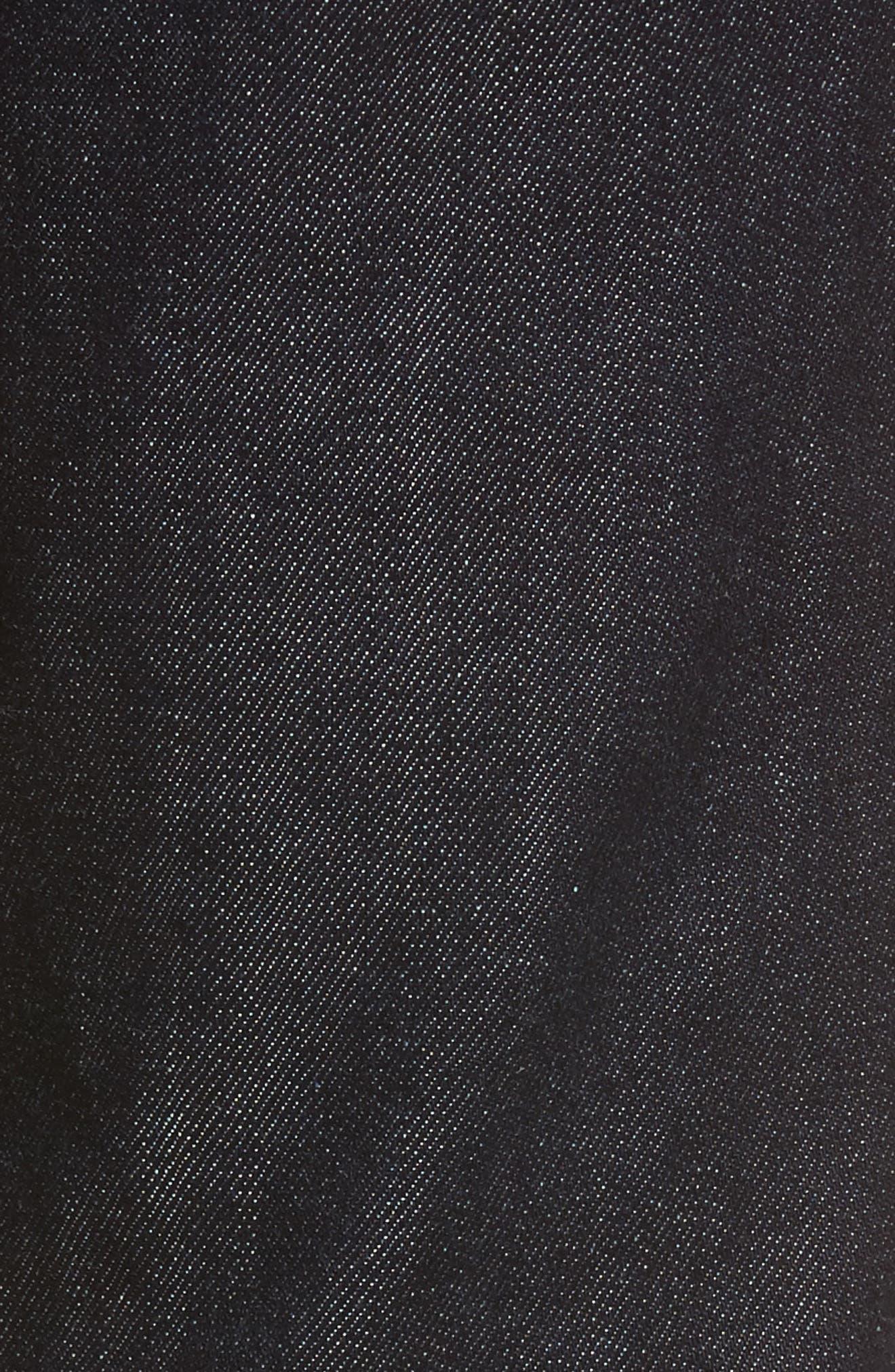 Isabelle High Waist Ankle Jeans,                             Alternate thumbnail 5, color,                             Indigo Autumn