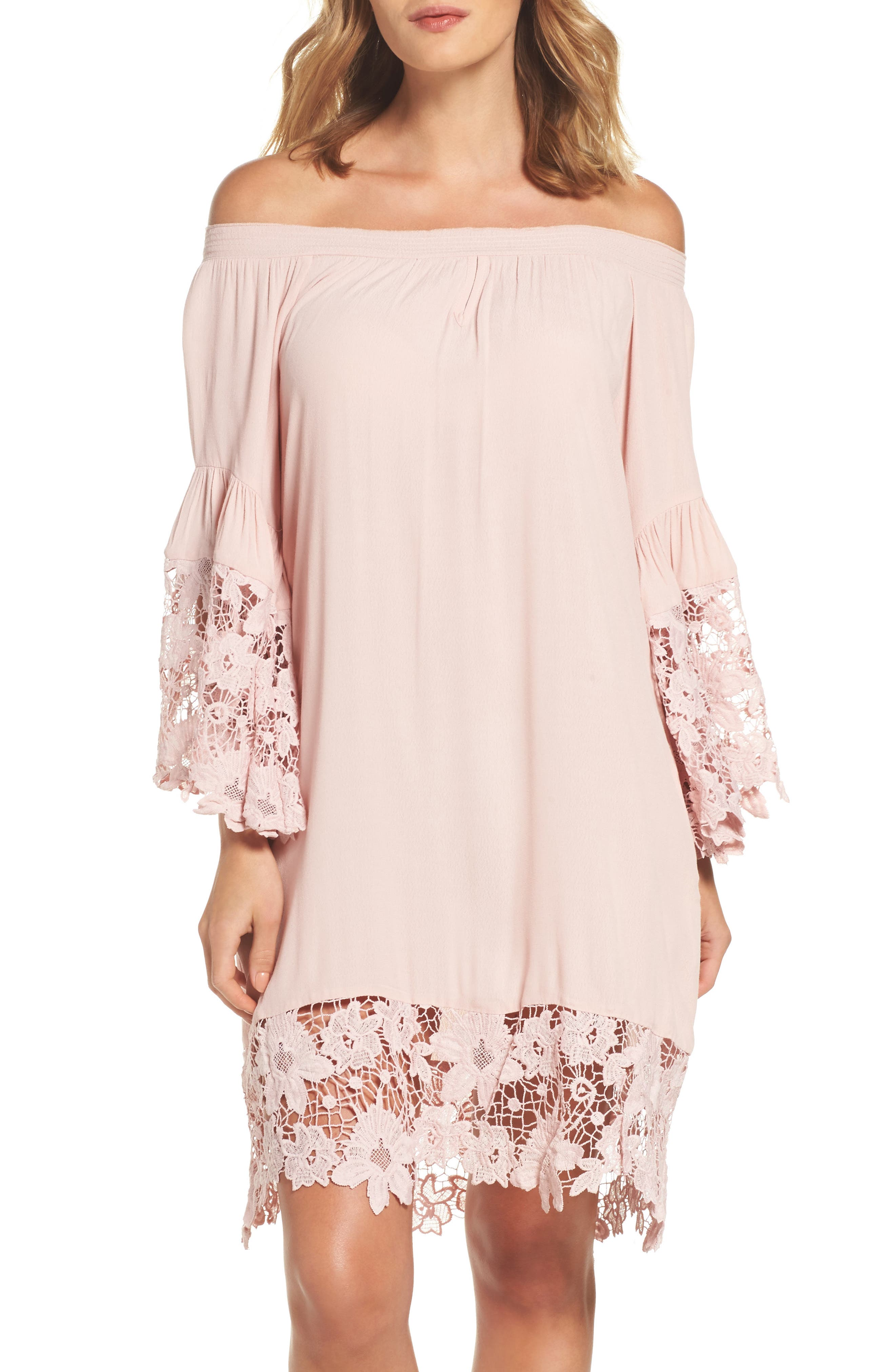 Alternate Image 1 Selected - Muche et Muchette Jolie Lace Accent Cover-Up Dress