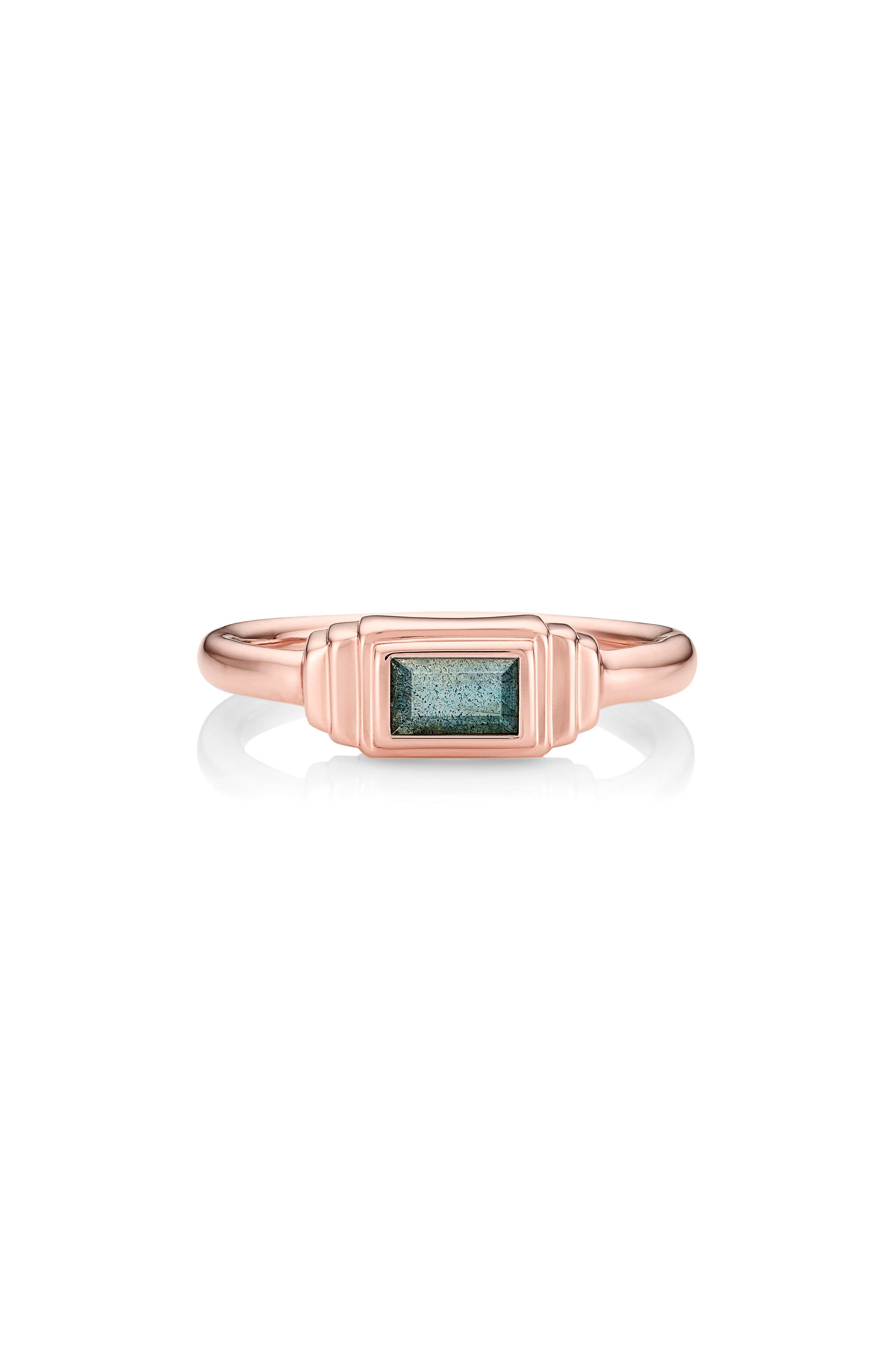 Alternate Image 2  - Monica Vinader Baja Deco Semiprecious Stone Ring
