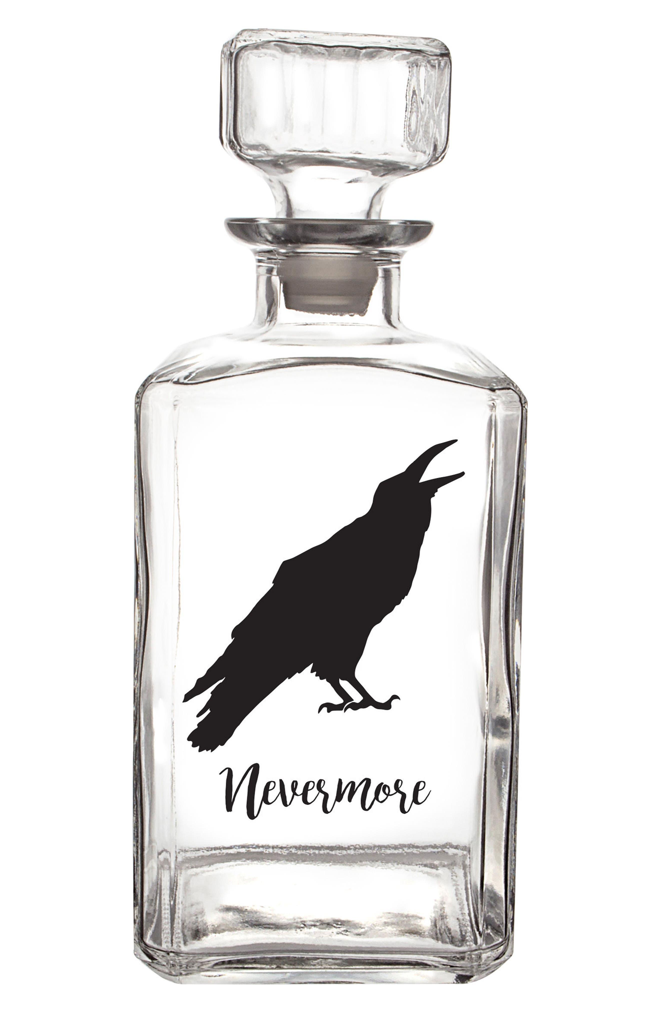 Raven Decanter,                         Main,                         color, Black