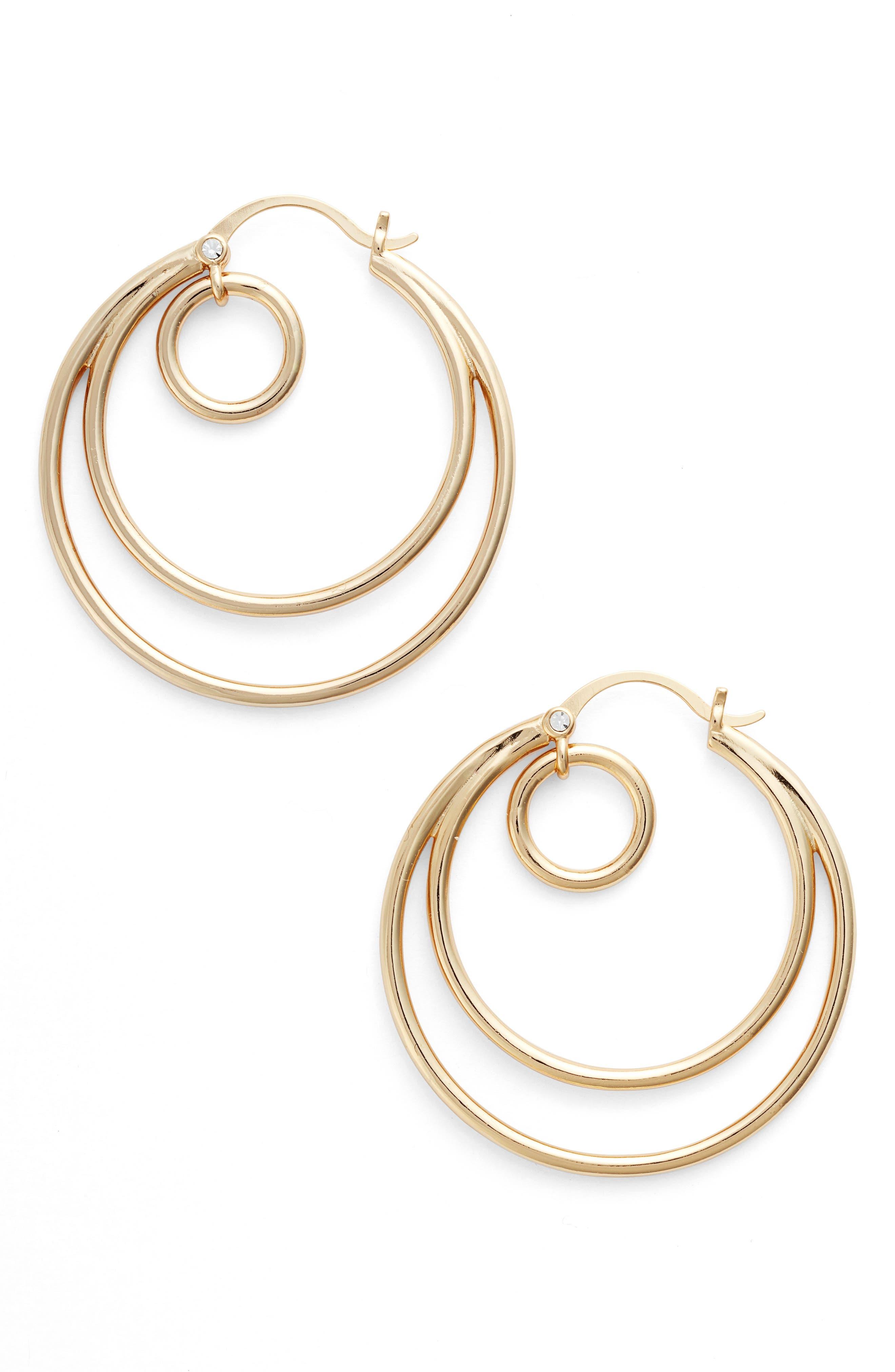 Galaxy Hoop Earrings,                         Main,                         color, Gold