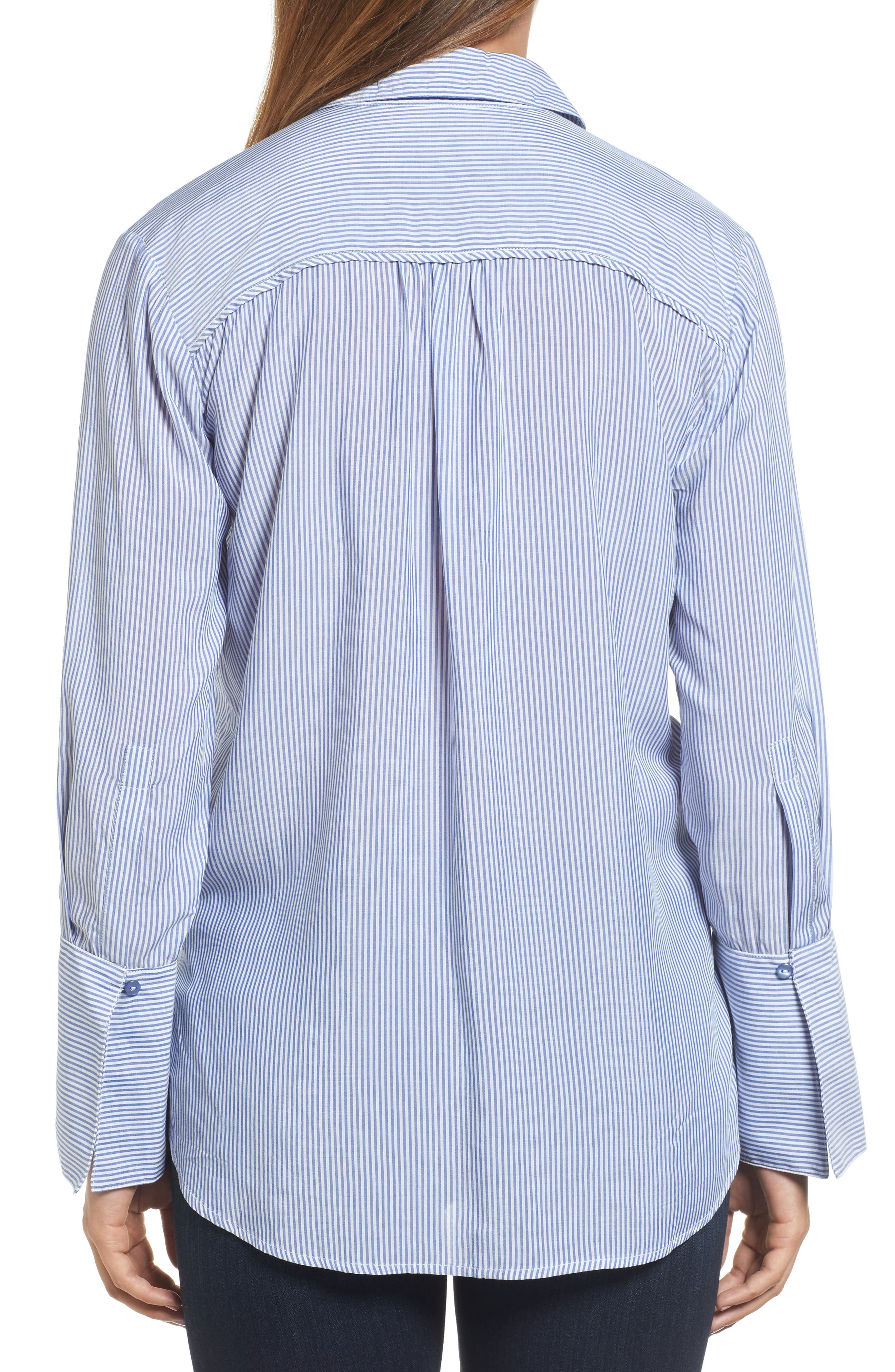 Alternate Image 2  - Wit & Wisdom Wide Cuff Embroidered Button Down (Nordstrom Exclusive)