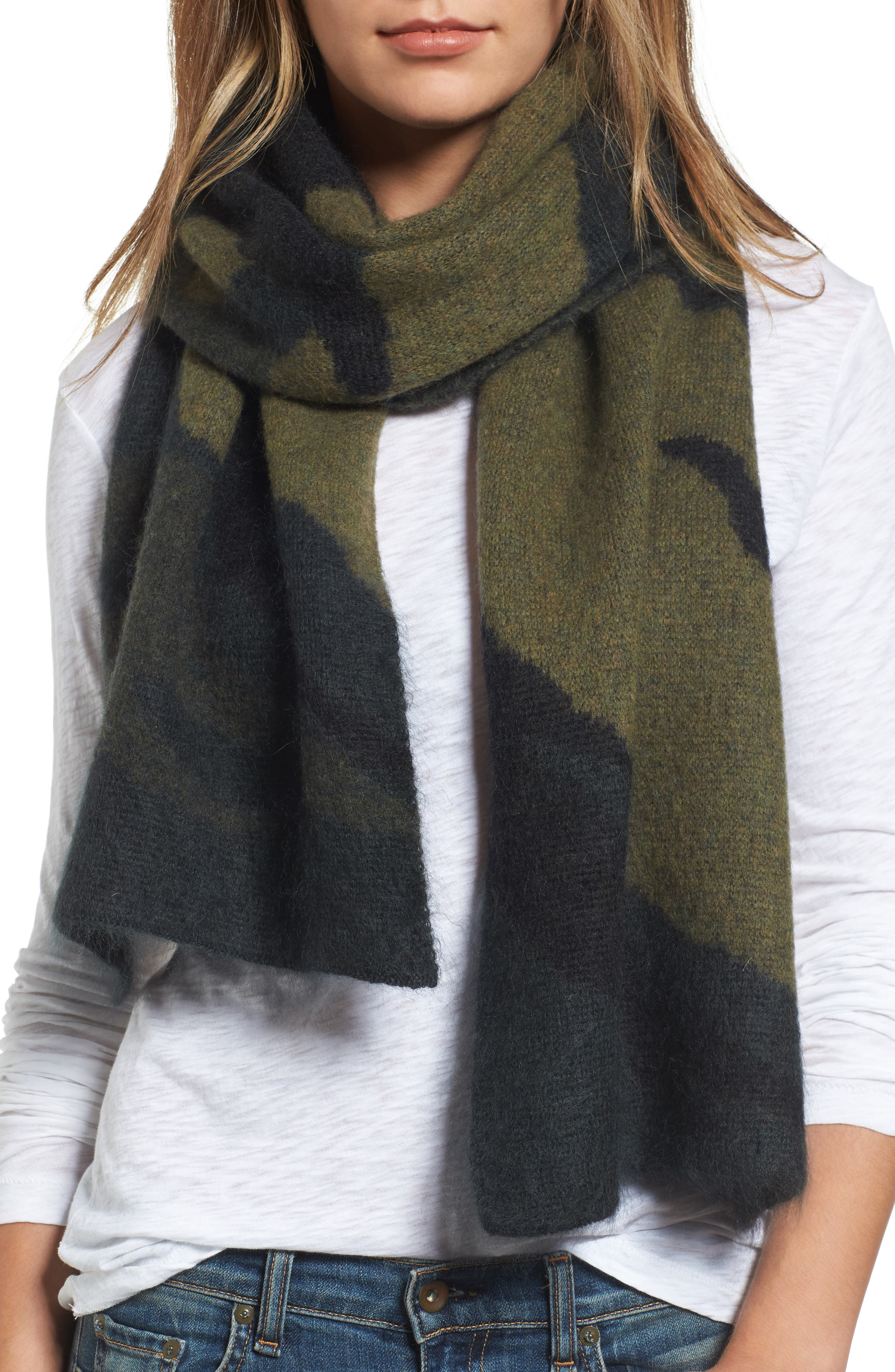 Alternate Image 2  - rag & bone Sinclair Camo Jacquard Knit Scarf