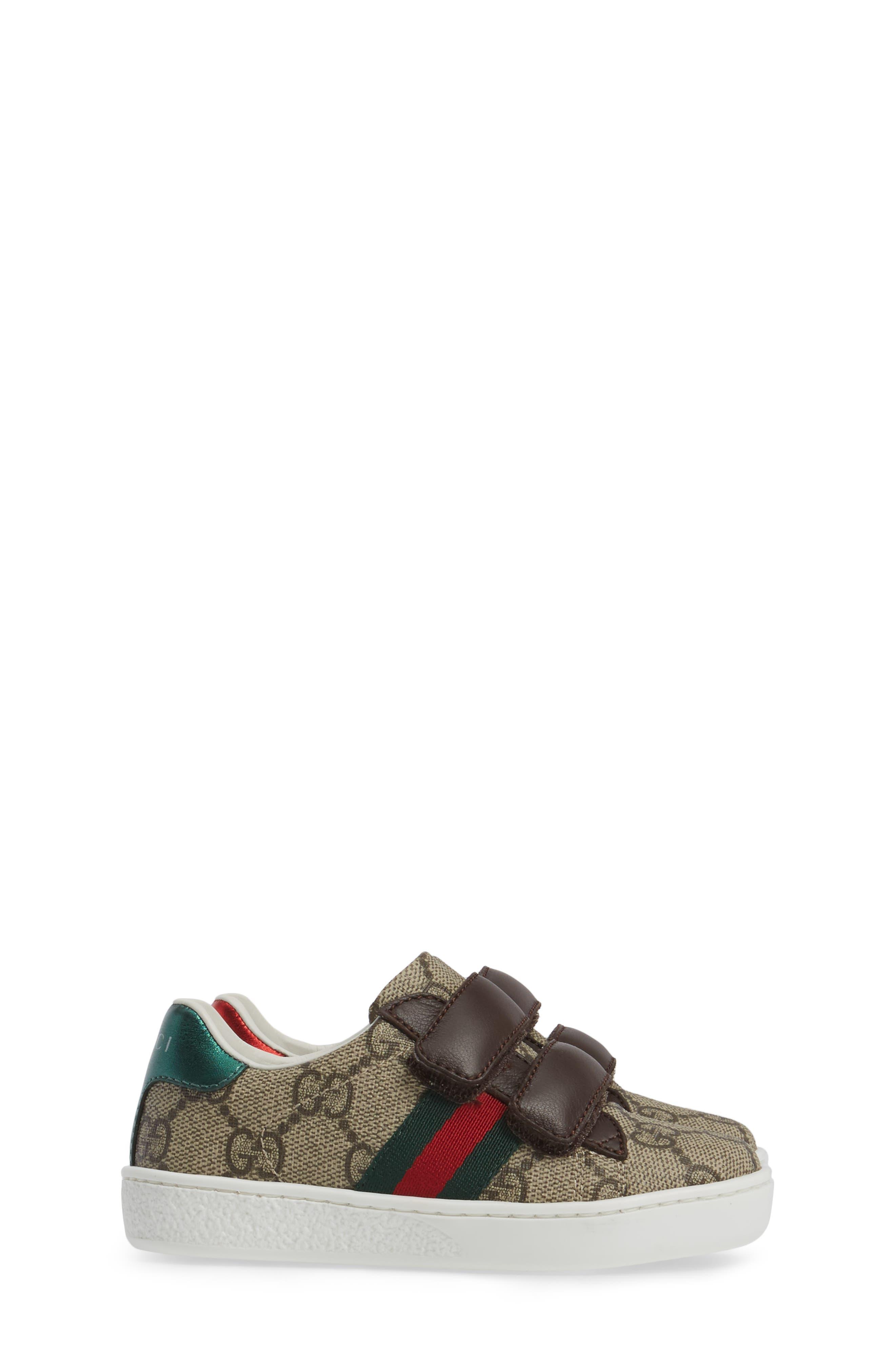 Alternate Image 4  - Gucci New Ace Monogram Sneaker (Baby, Walker, Toddler, Little Kid & Big Kid)