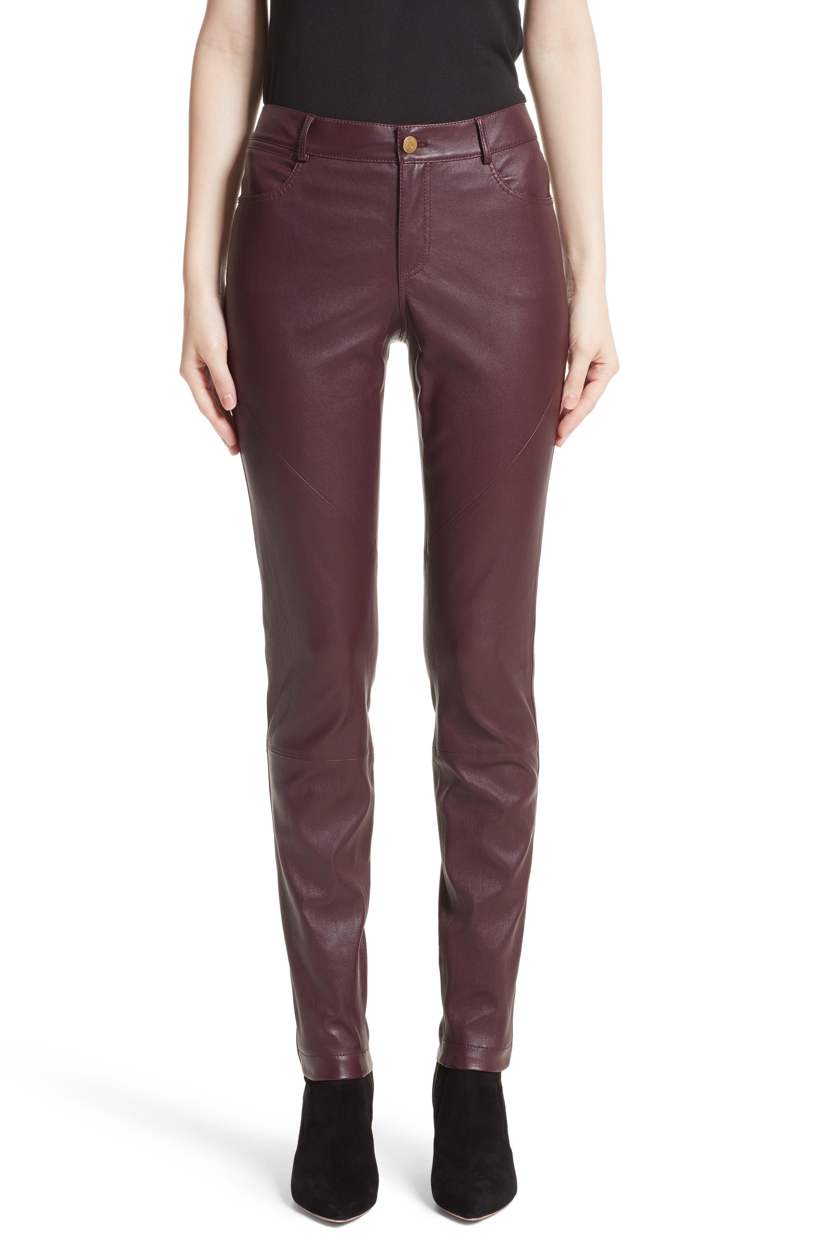 Lafayette 148 New York Mercer Nappa Leather Pants