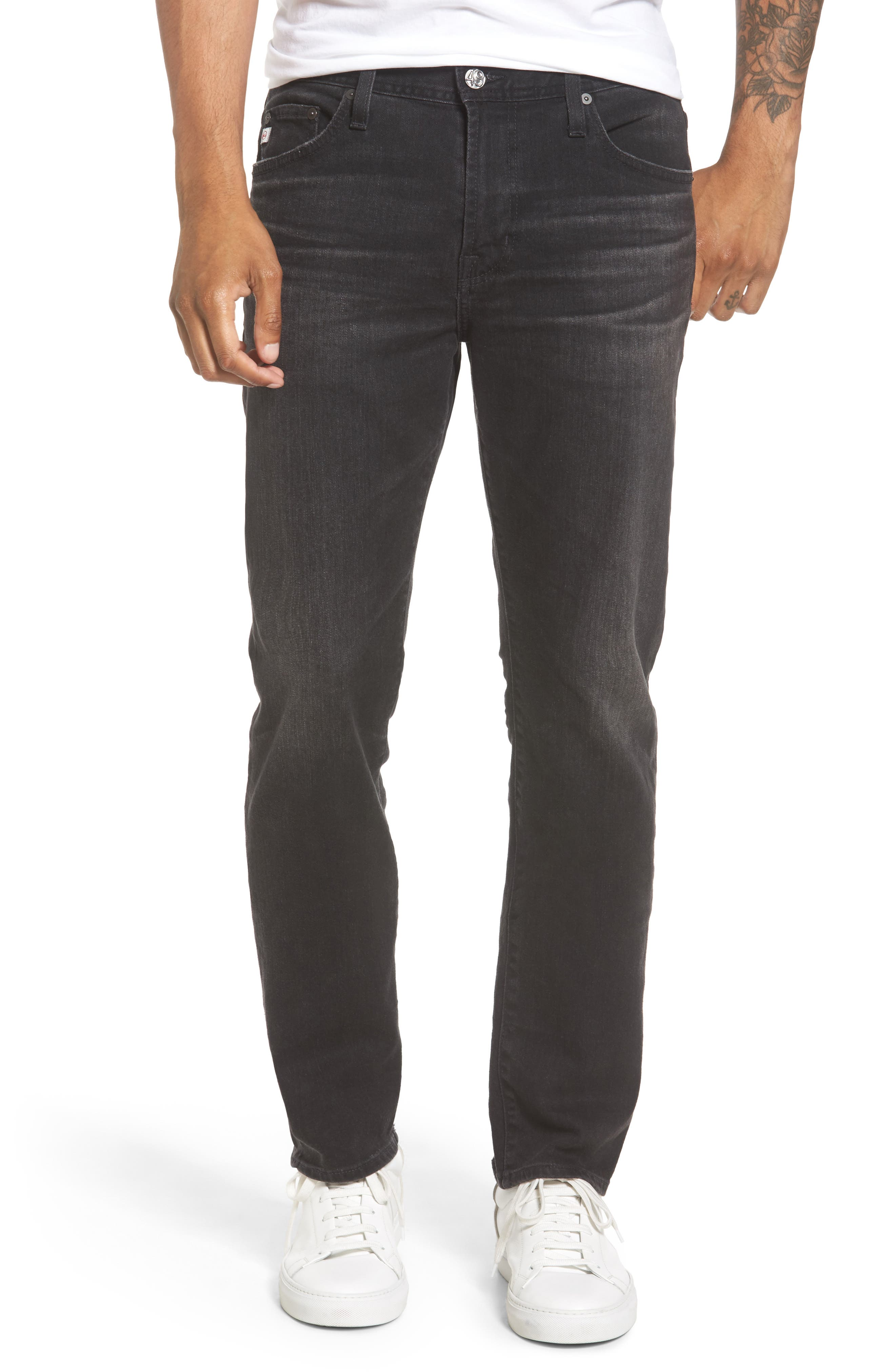 Main Image - AG Everett Slim Straight Leg Jeans (4 Years Down)