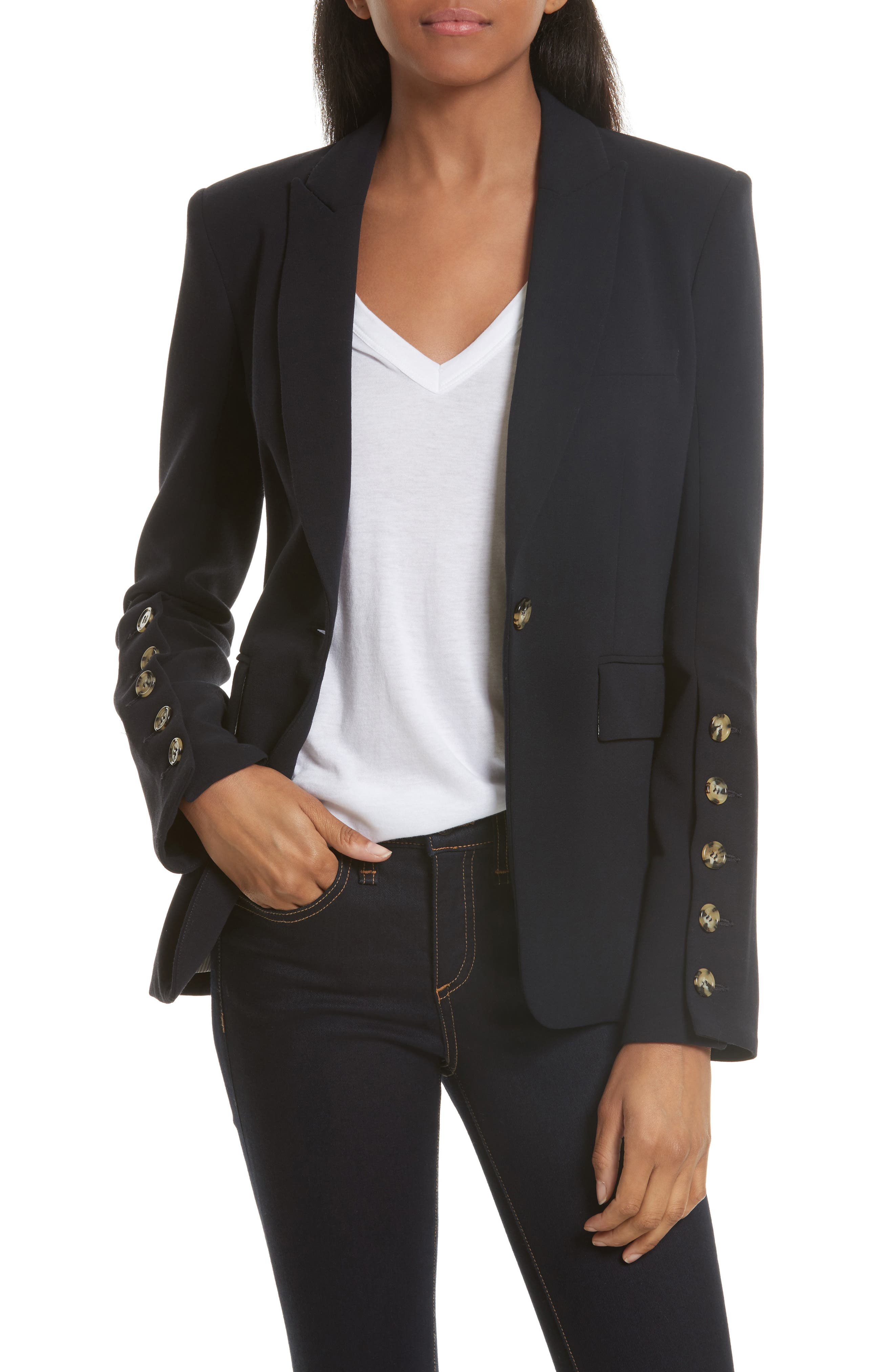 Main Image - Veronica Beard Steele Cutaway Jacket