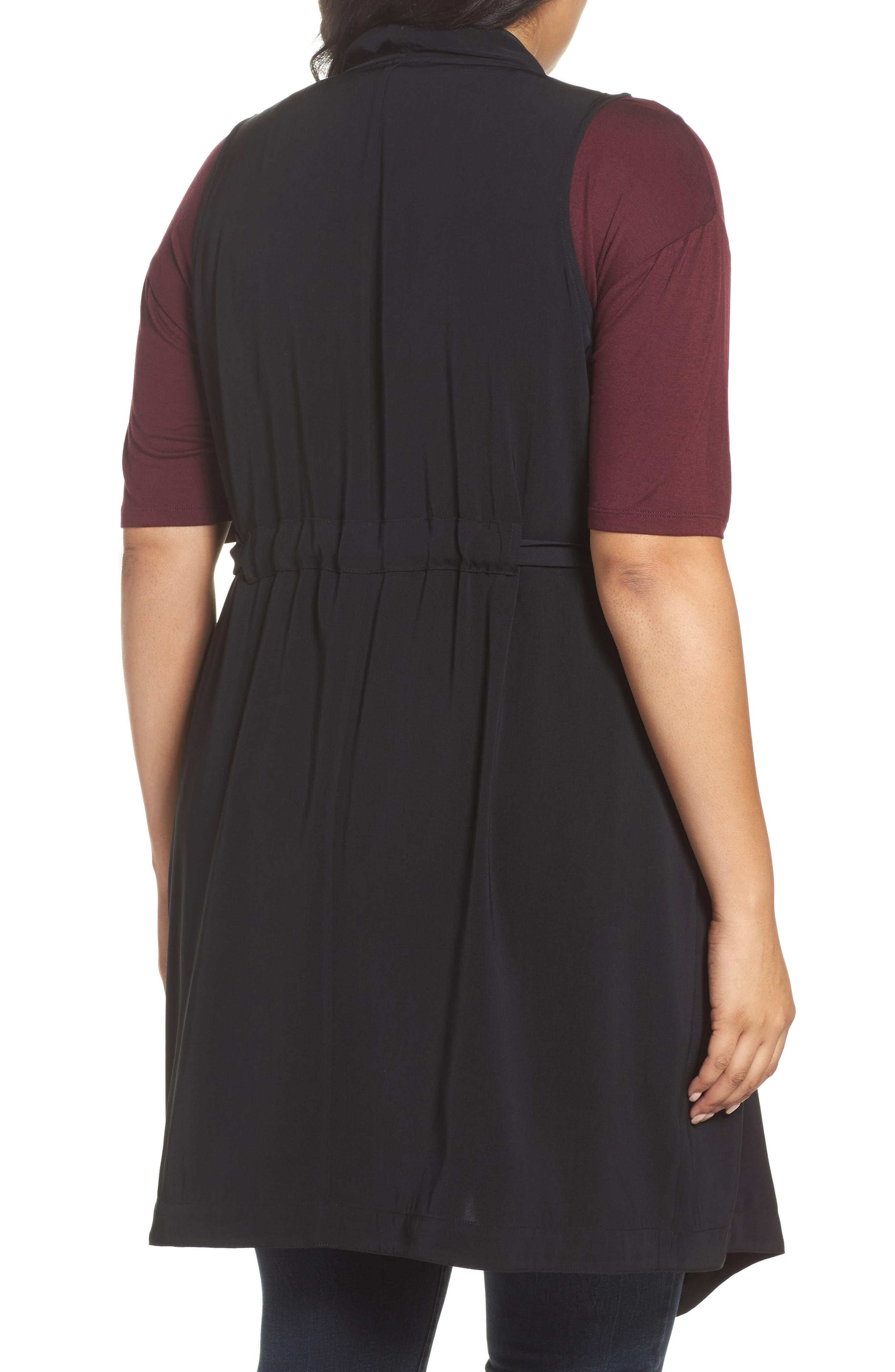 Alternate Image 2  - REBEL WILSON X ANGELS Drape Front Vest (Plus Size)