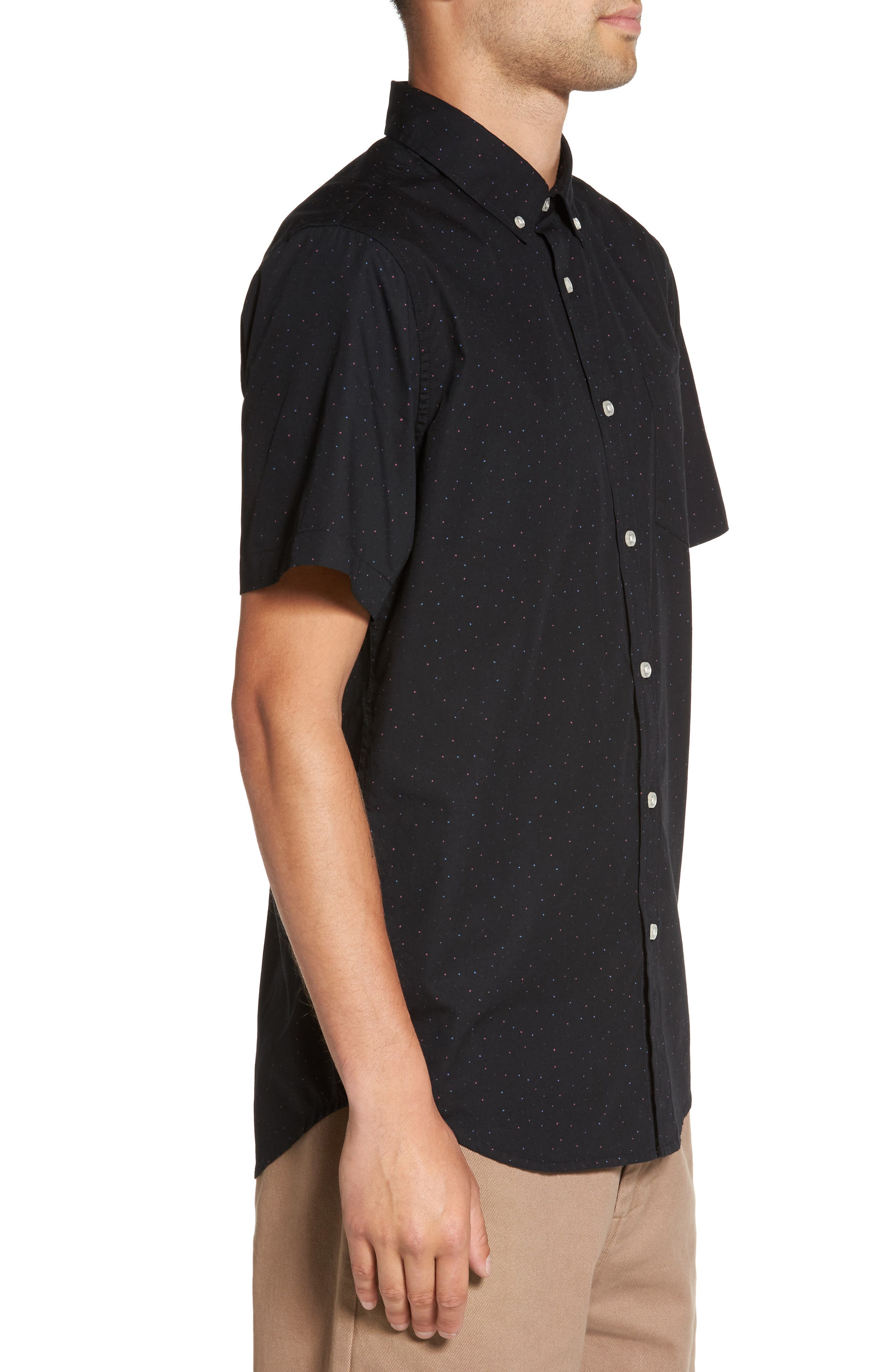 Alternate Image 3  - Obey Voyage Flecked Woven Shirt