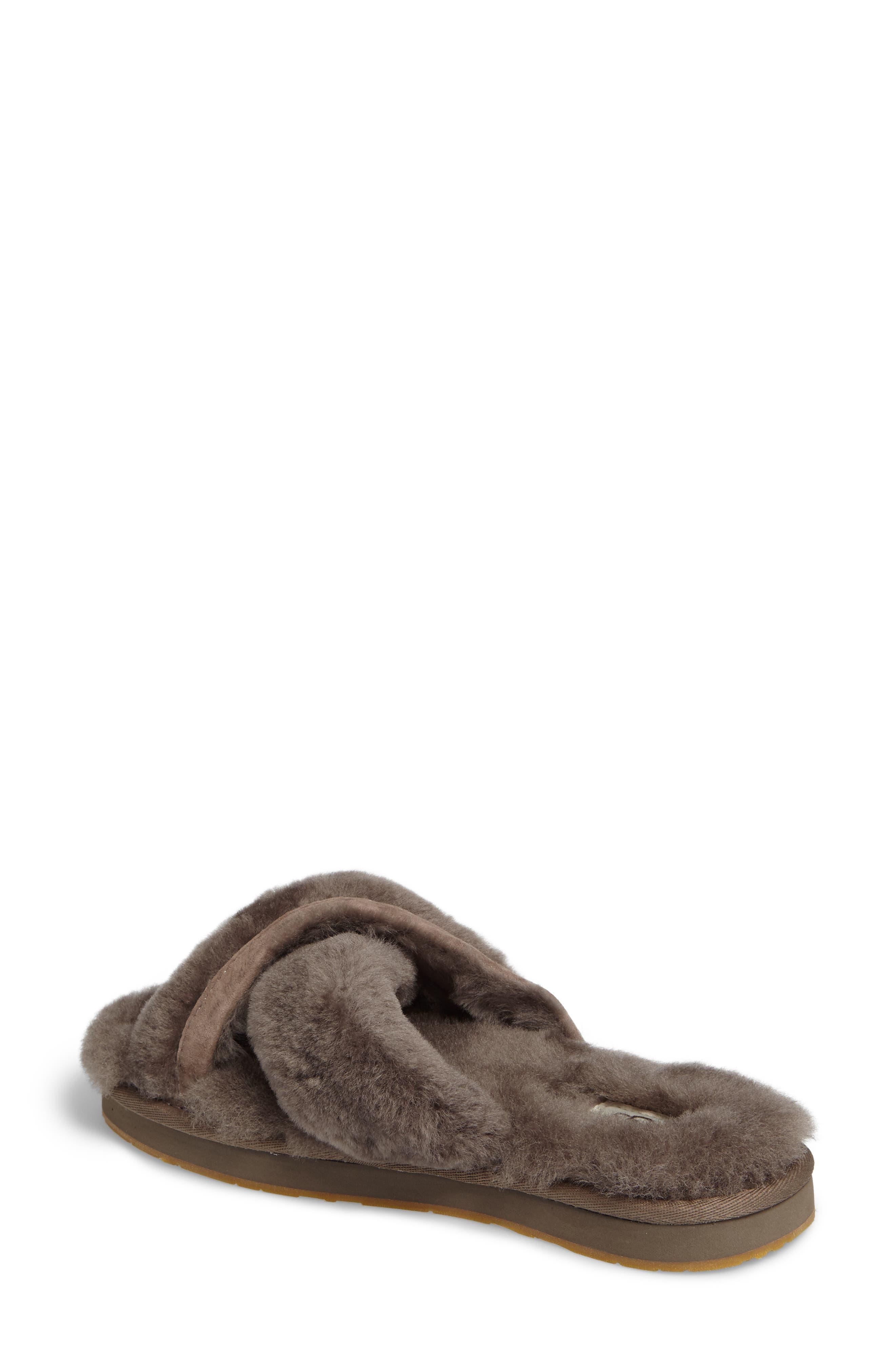 Alternate Image 2  - UGG® Abela Genuine Shearling Flip Flop (Women)