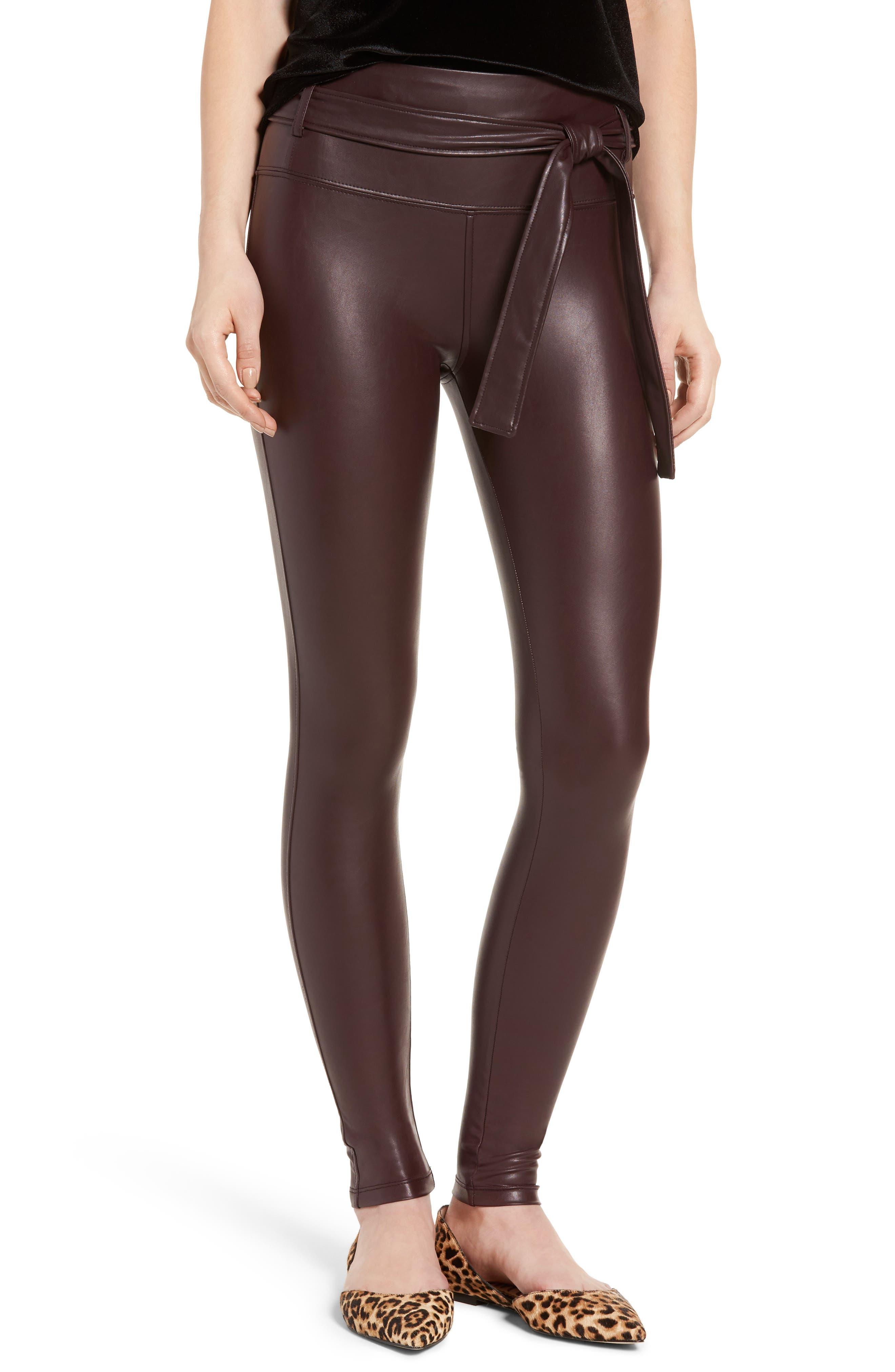 Alternate Image 1 Selected - David Lerner Elliot High Waist Faux Leather Leggings