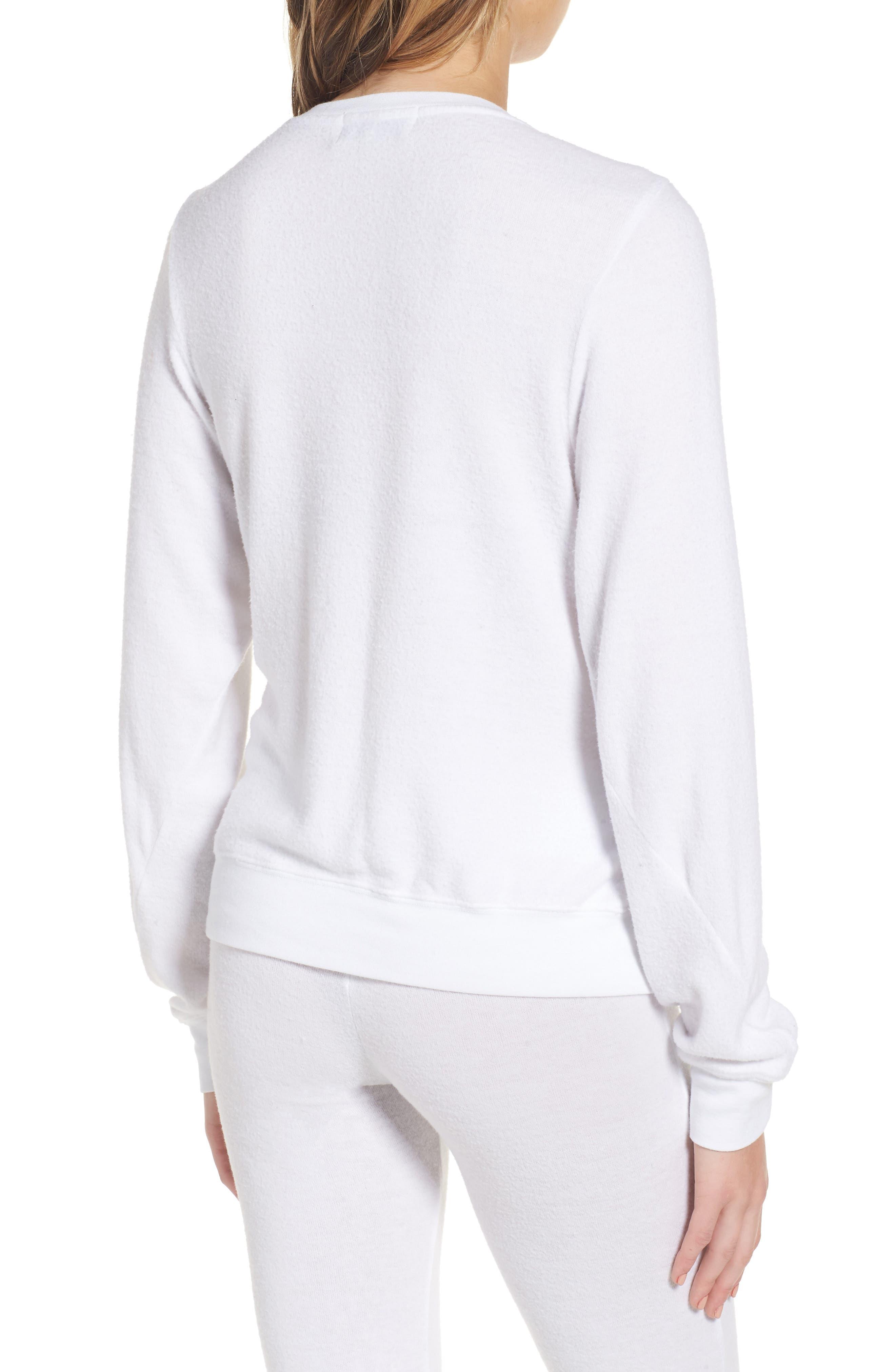 Peace Sweatshirt,                             Alternate thumbnail 2, color,                             White
