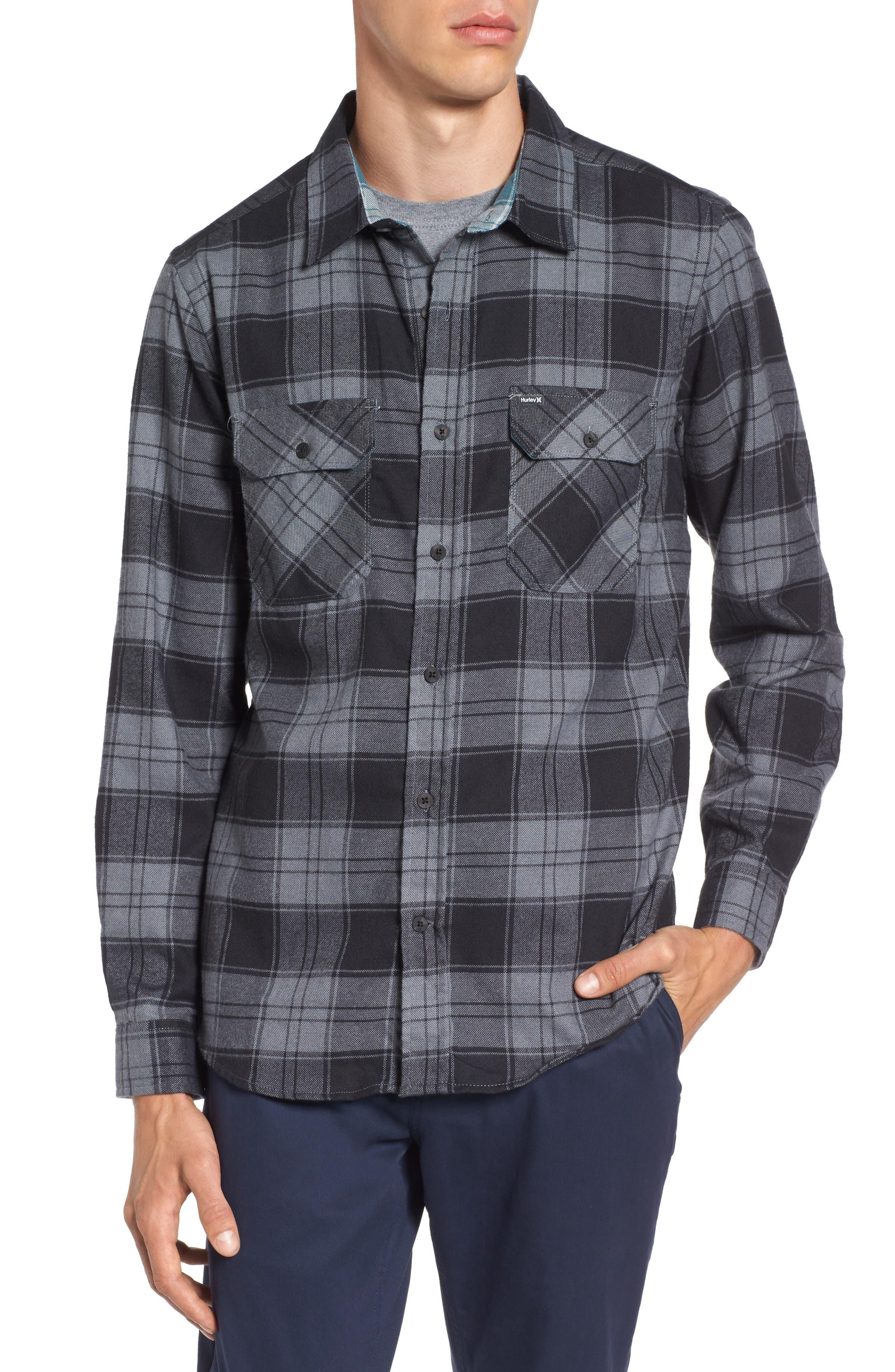 Main Image - Hurley Check Dri-FIT Shirt