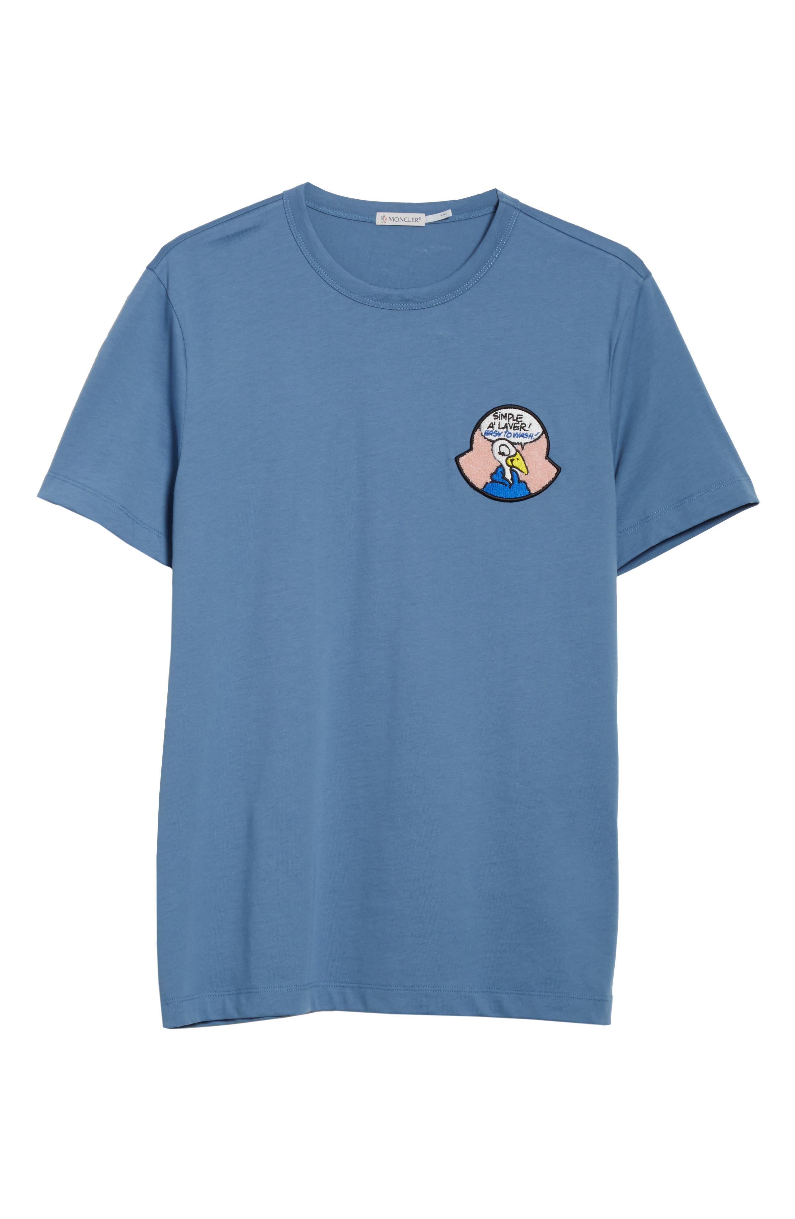 Maglia T-Shirt,                             Alternate thumbnail 6, color,                             Medium Blue