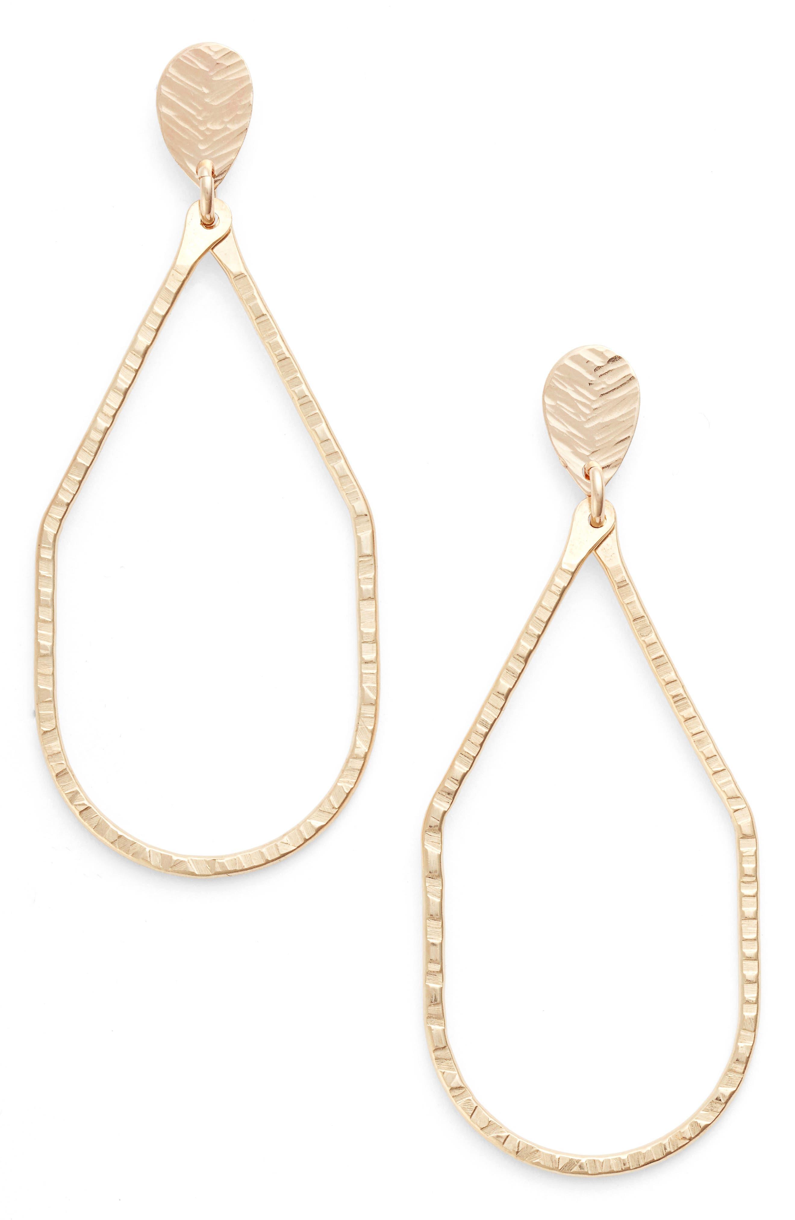 Nashelle Hammered Drop Earrings