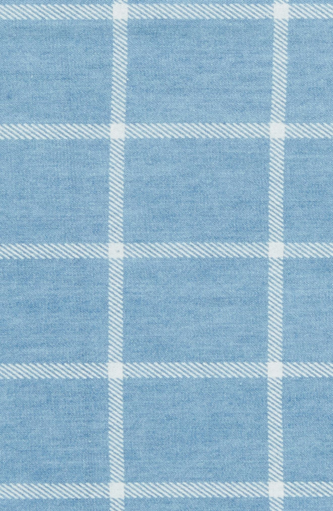 Sergi Check Cotton Pocket Square,                             Alternate thumbnail 2, color,                             Blue