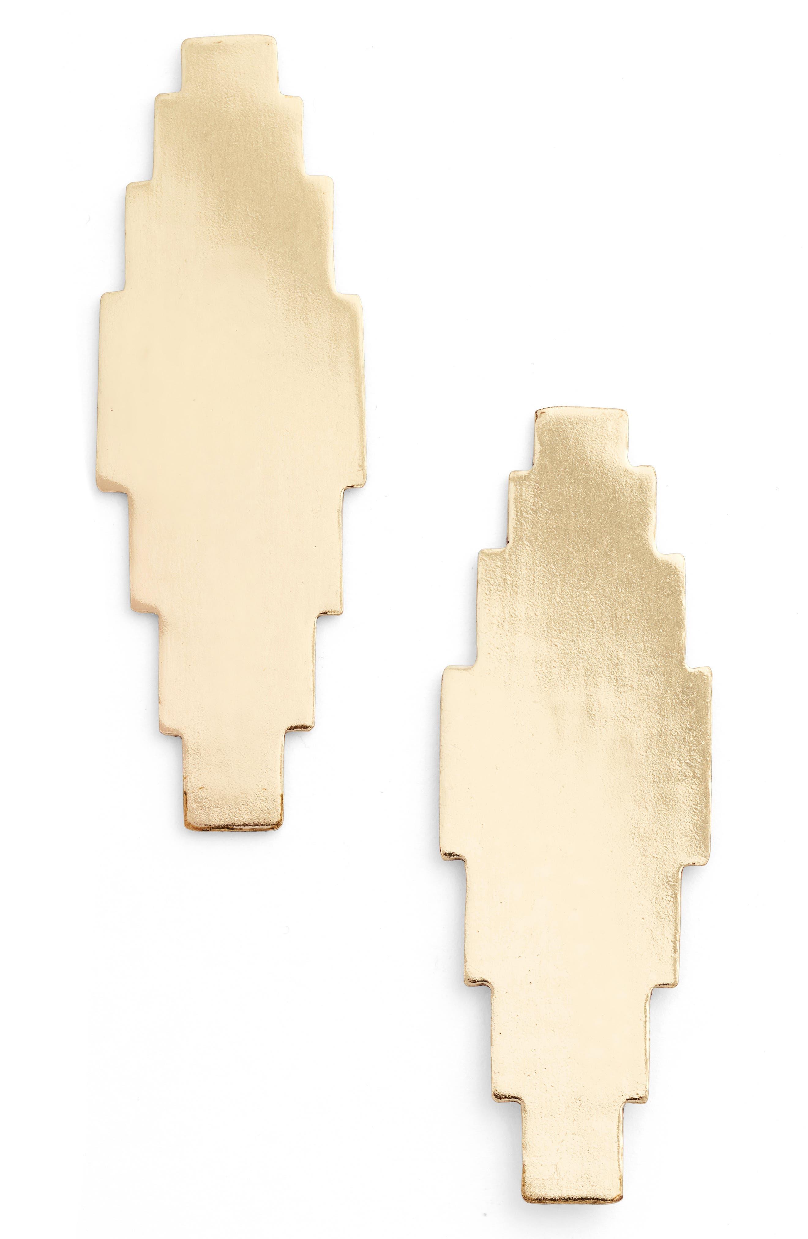 Elohi Post Earrings,                         Main,                         color, Gold