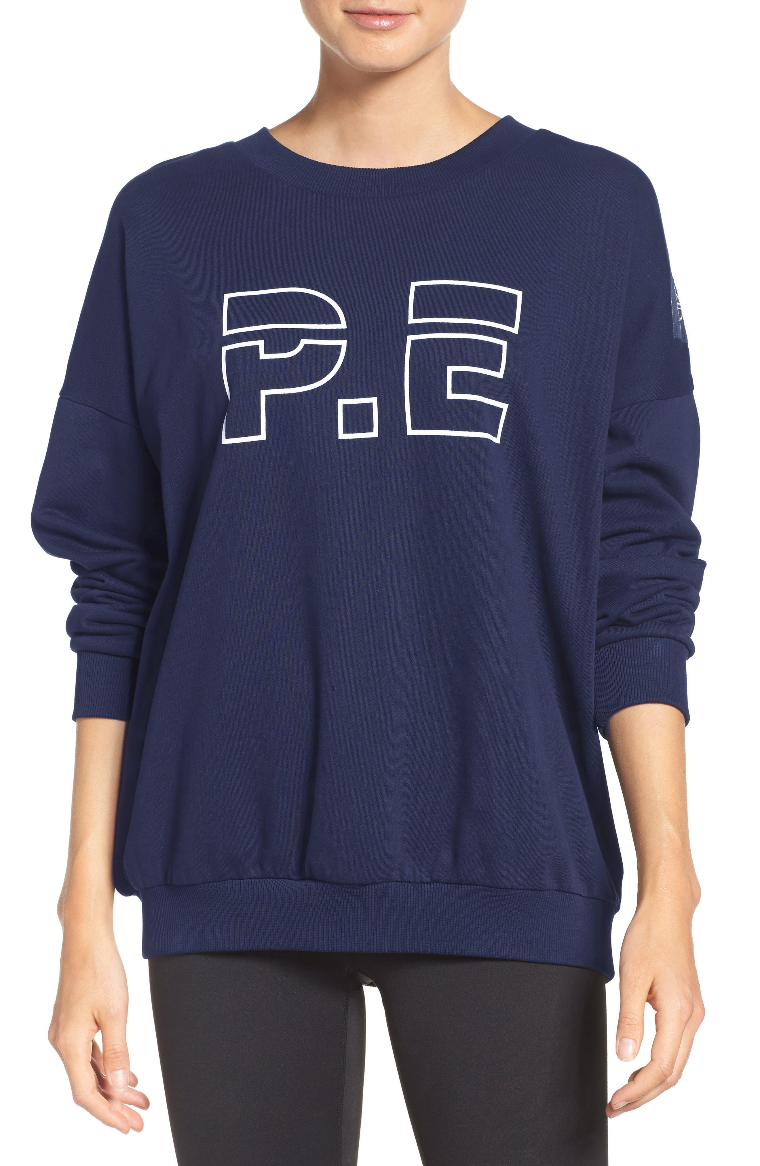 P.E. Nation The Heads Up Sweatshirt,                             Main thumbnail 1, color,                             Navy