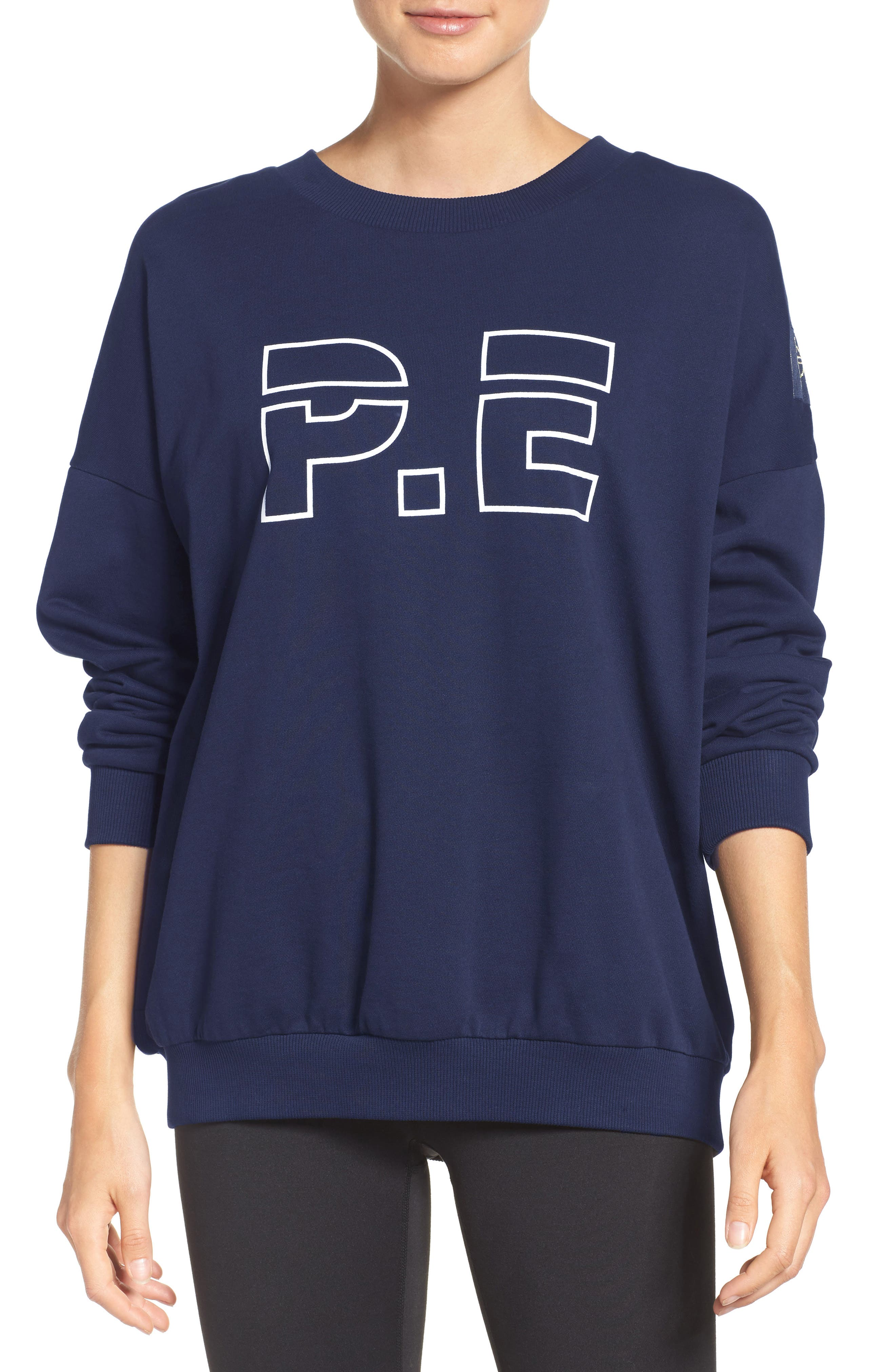 P.E. Nation The Heads Up Sweatshirt,                         Main,                         color, Navy