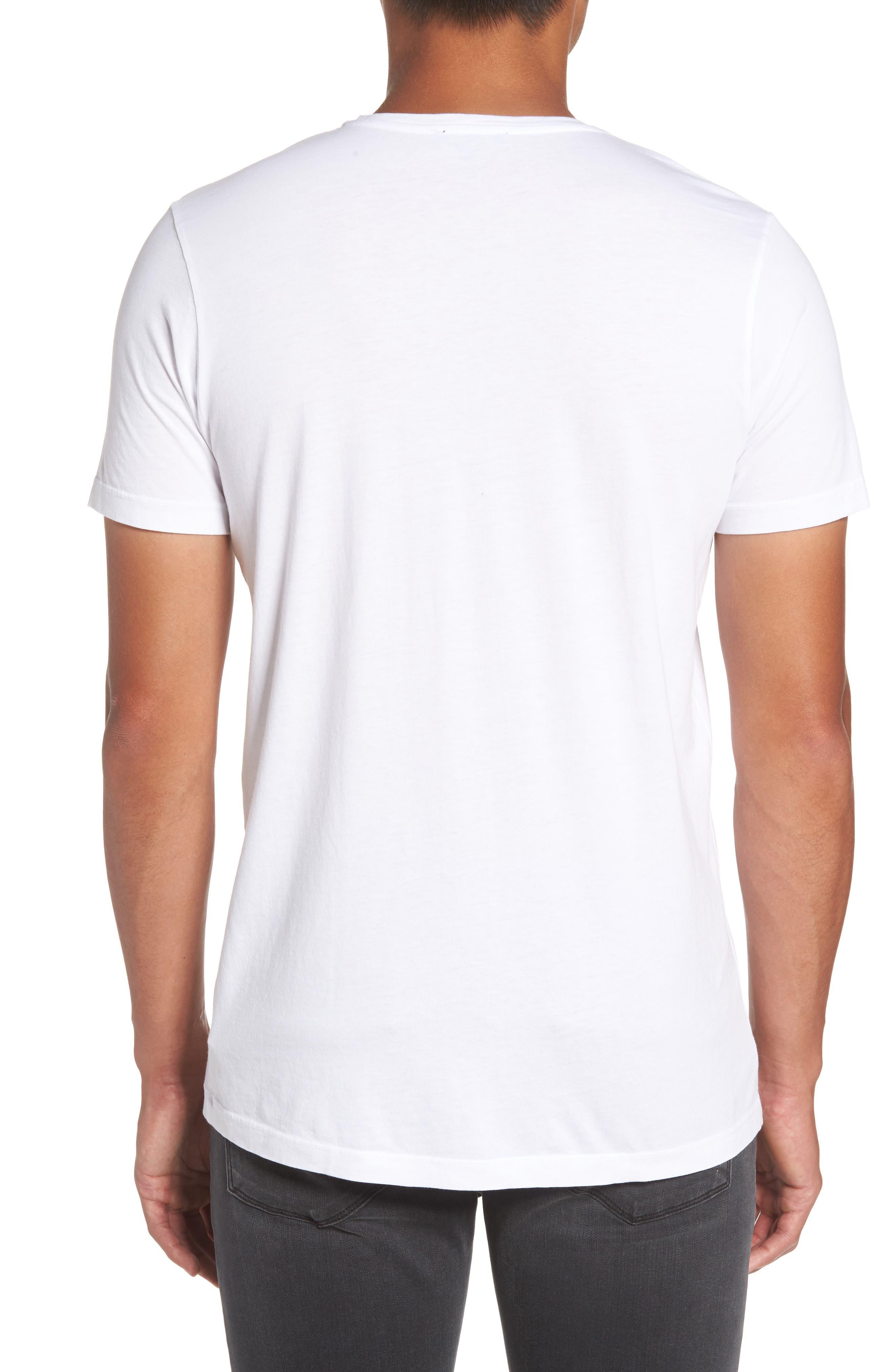 Grayson V-Neck T-Shirt,                             Alternate thumbnail 2, color,                             White