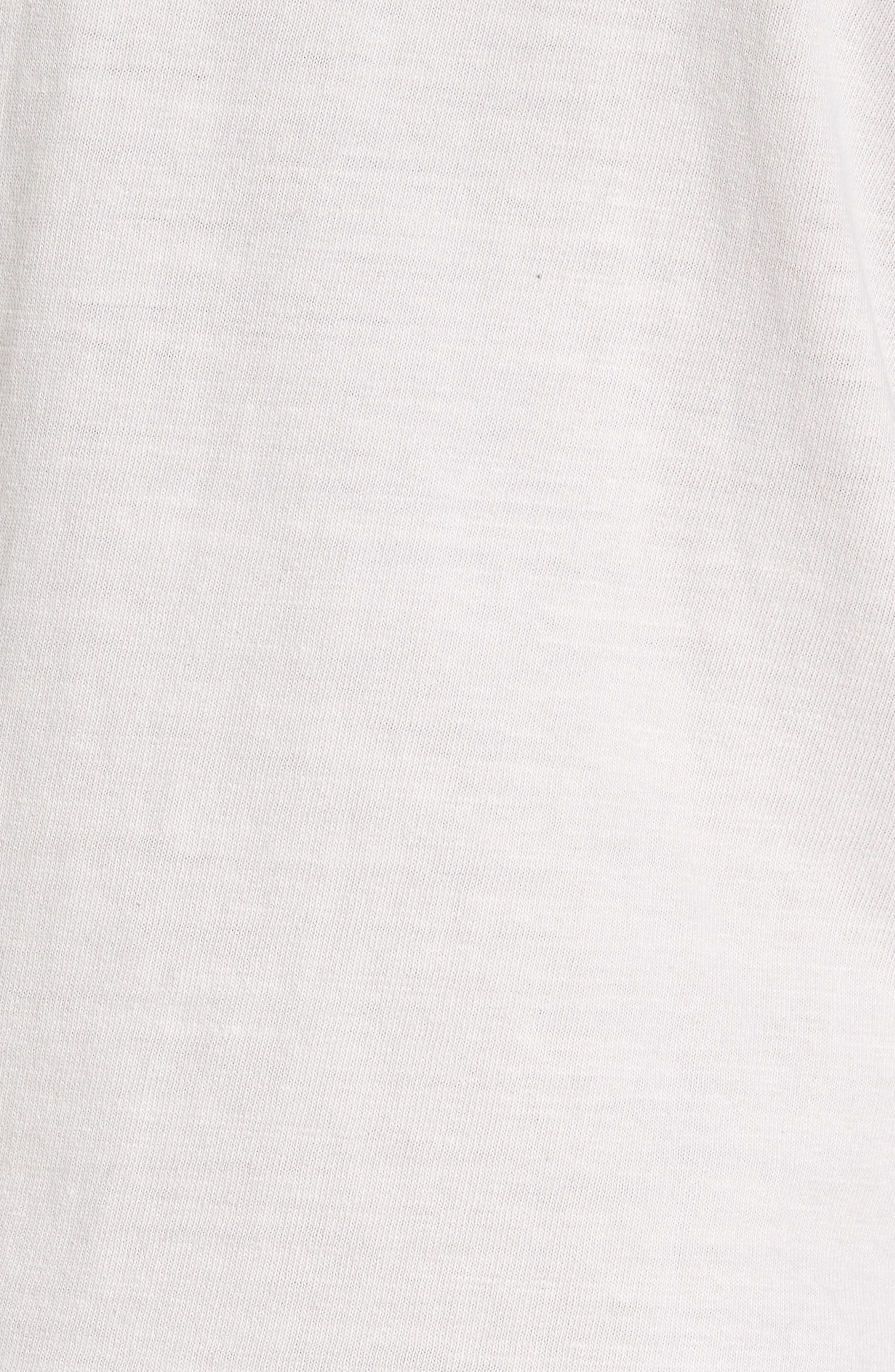 Long Sleeve Henley T-Shirt,                             Alternate thumbnail 5, color,                             Concrete Dust Pigment