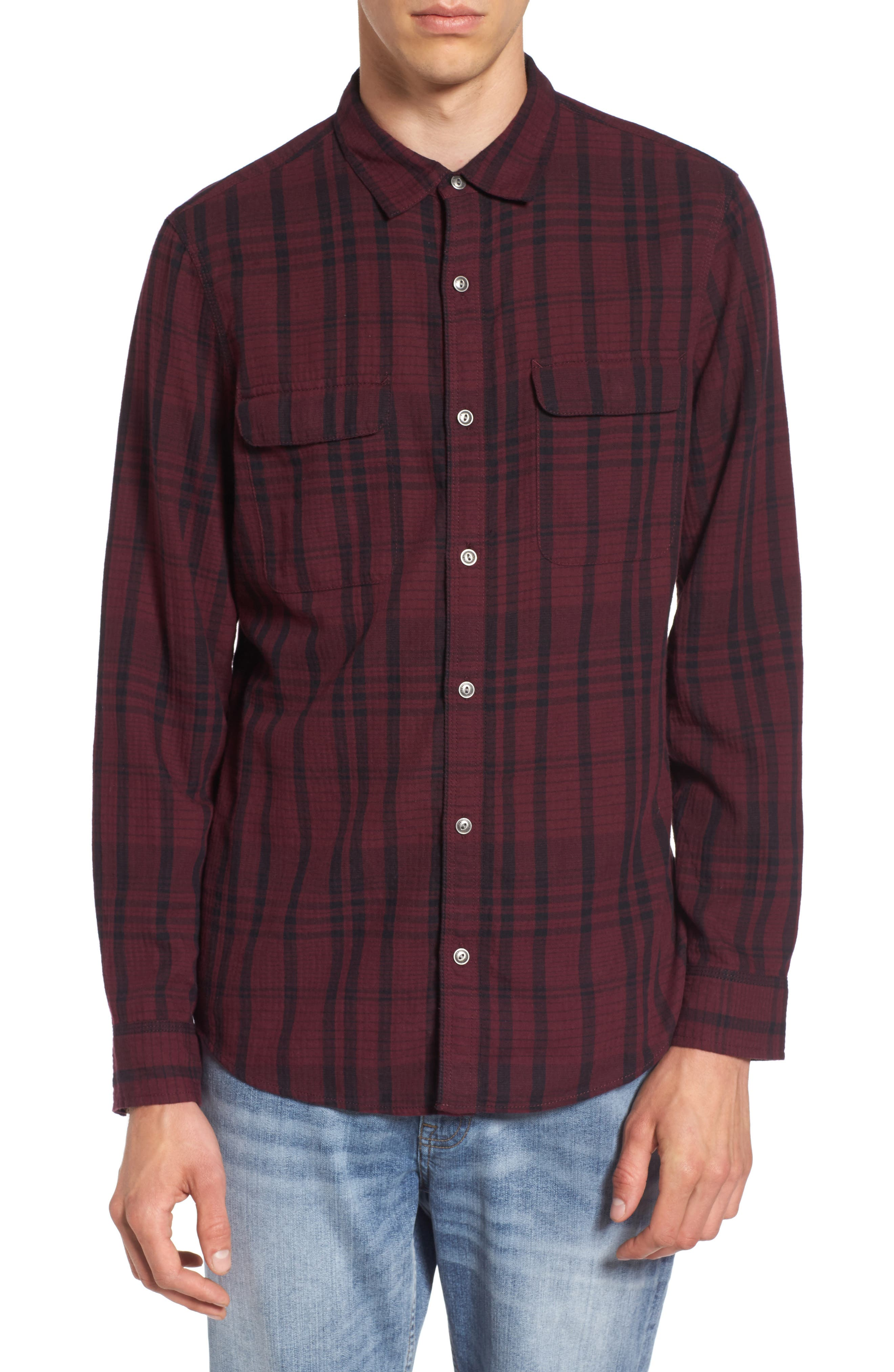 Treasure & Bond Hooper Plaid Sport Shirt