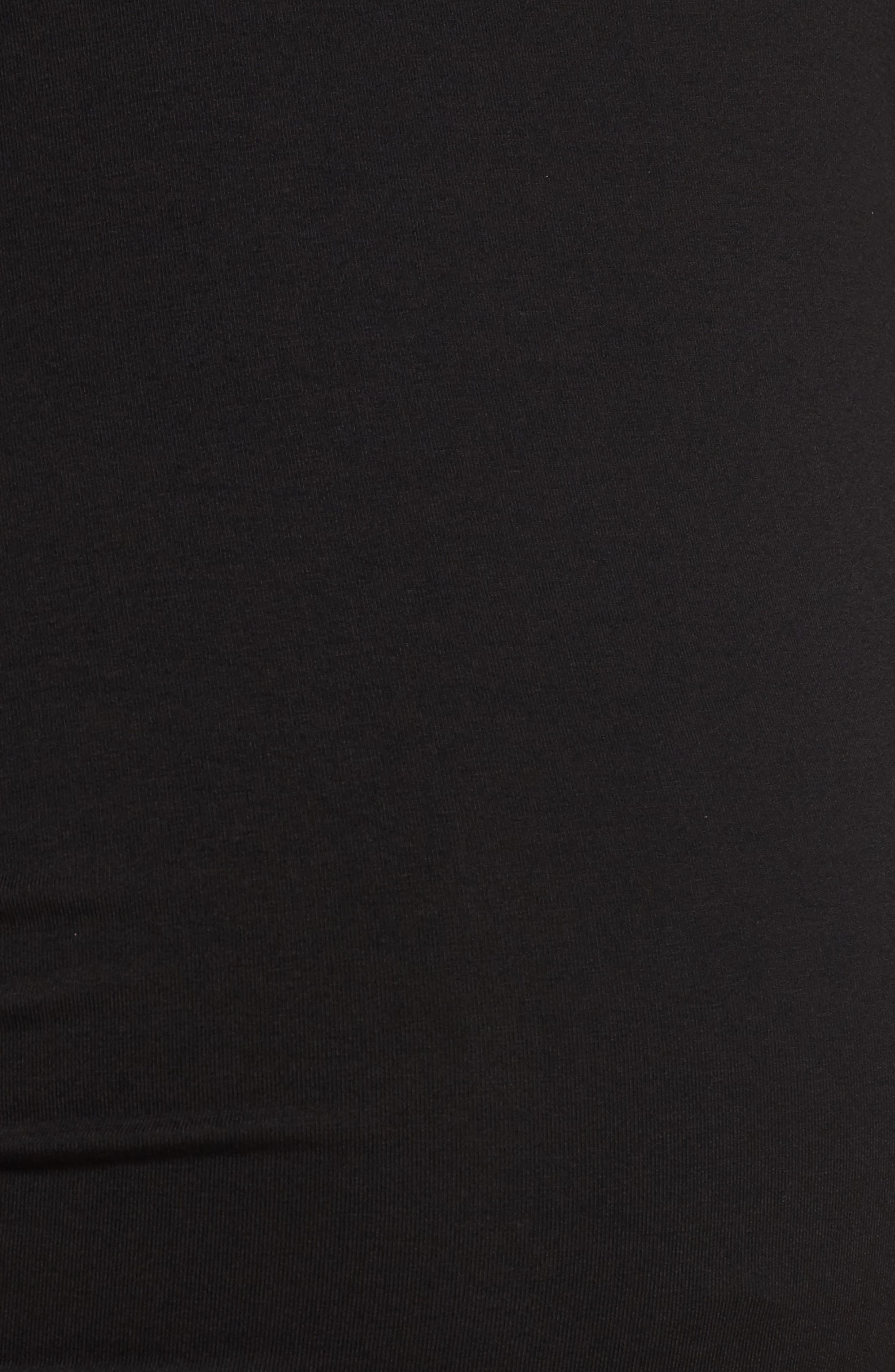 Jessa Maternity Dress,                             Alternate thumbnail 5, color,                             Caviar Black