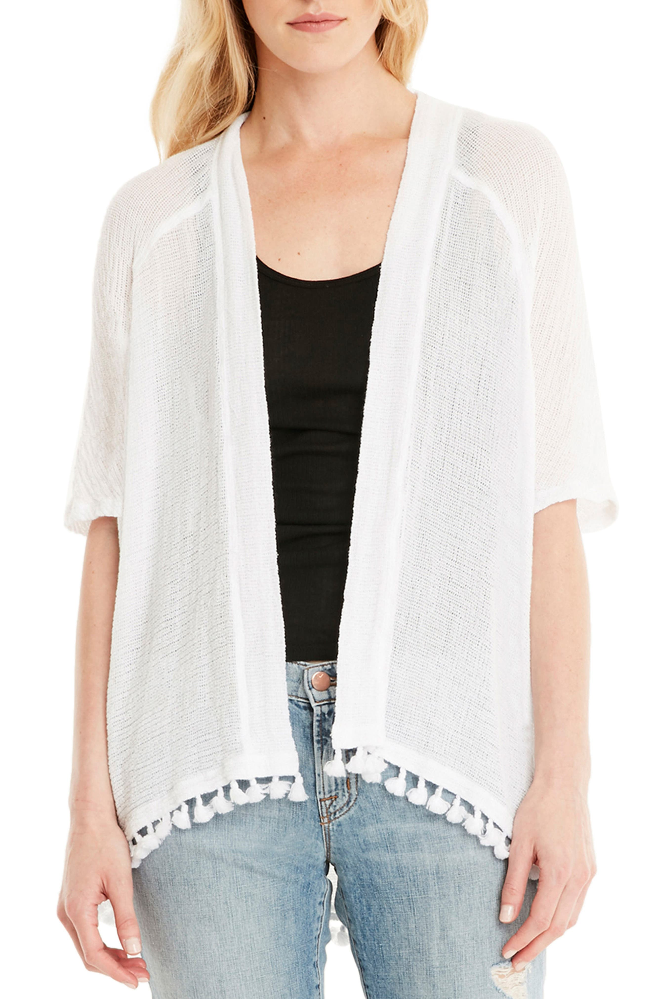 Alternate Image 1 Selected - Michael Stars Tassel Trim Kimono Wrap