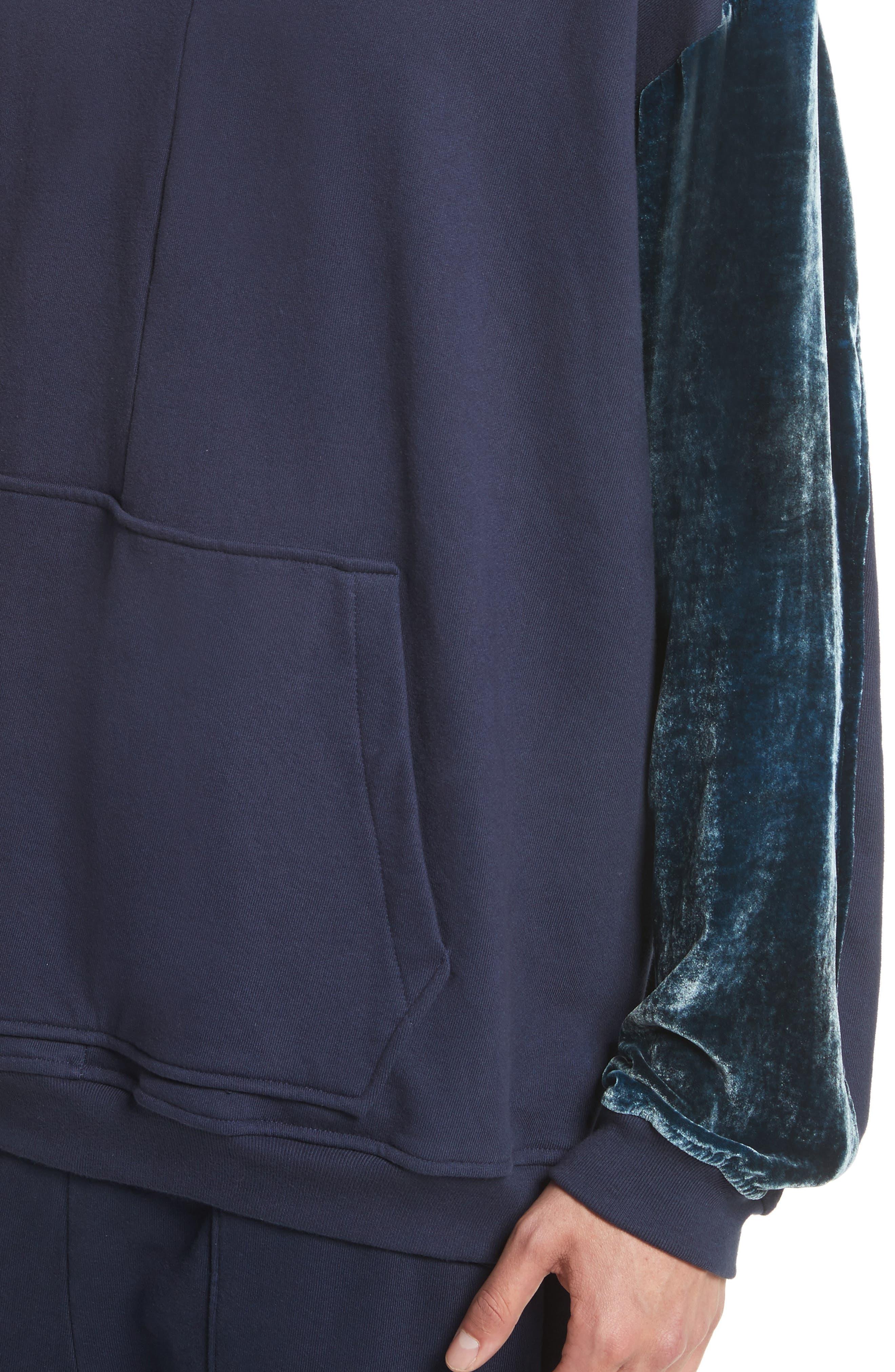 Alternate Image 4  - Drifter Galeras Velvet Sleeve Sweatshirt