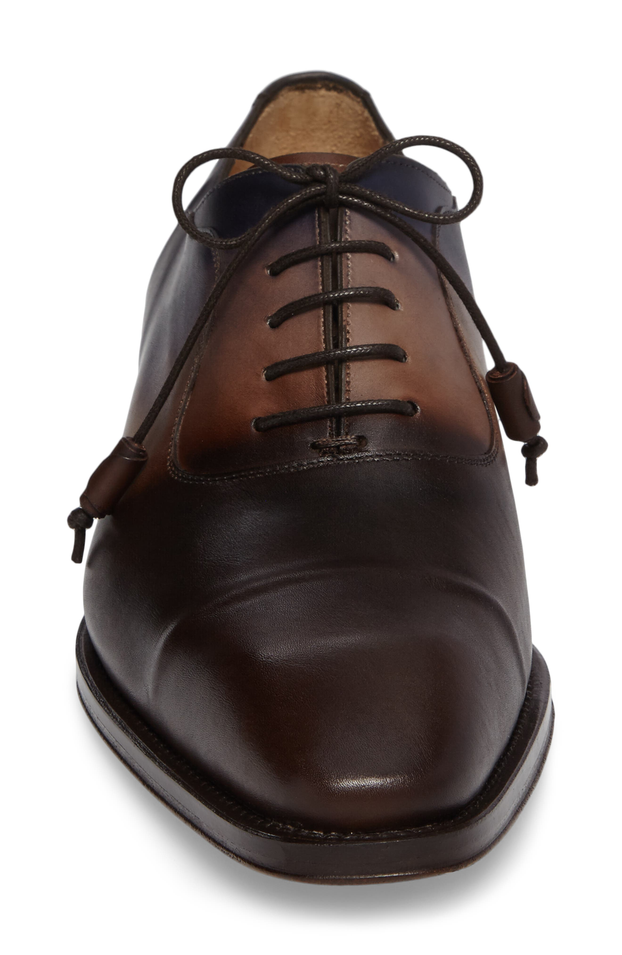 Millet Cap Toe Oxford,                             Alternate thumbnail 4, color,                             Brown Multi Leather