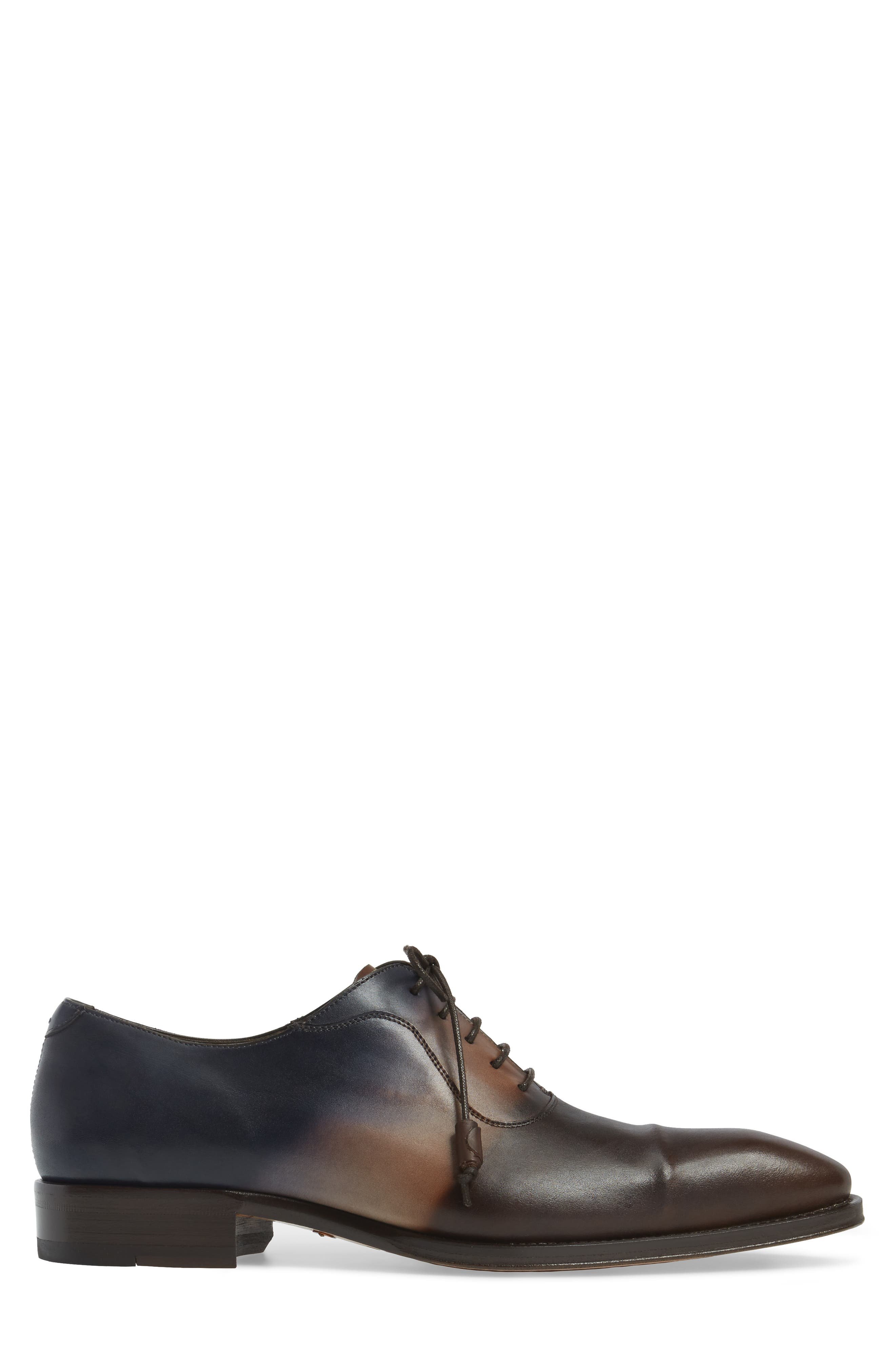 Millet Cap Toe Oxford,                             Alternate thumbnail 3, color,                             Brown Multi Leather