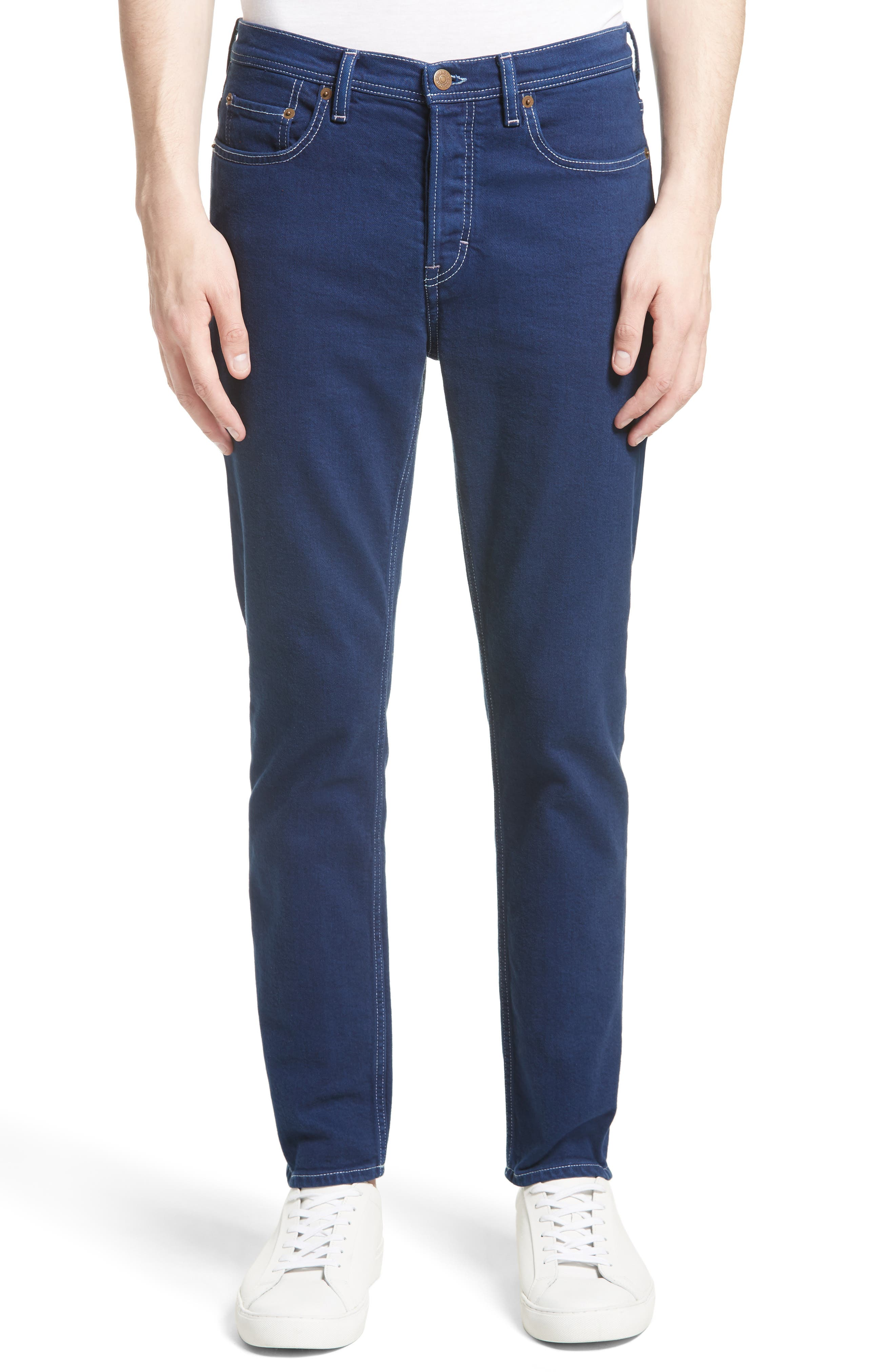 Alternate Image 1 Selected - ACNE Studios River Slim Tapered Fit Jeans (Cobalt)