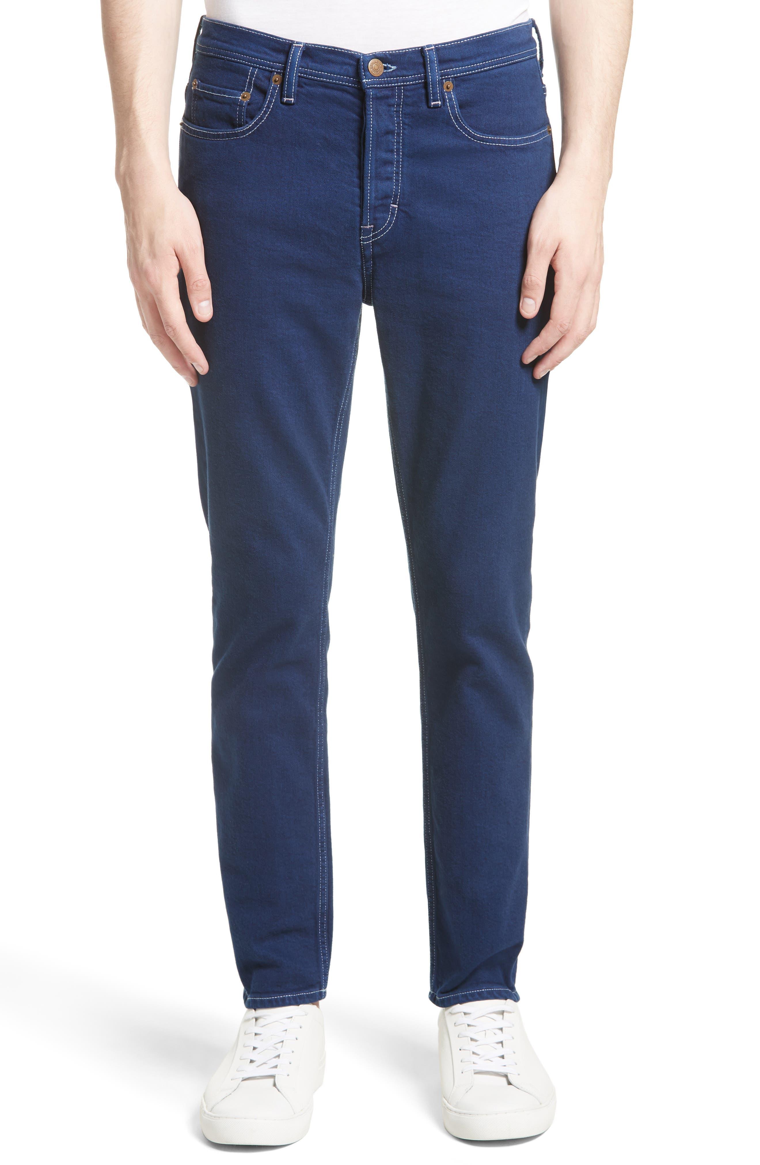 River Slim Tapered Fit Jeans,                         Main,                         color, Cobalt