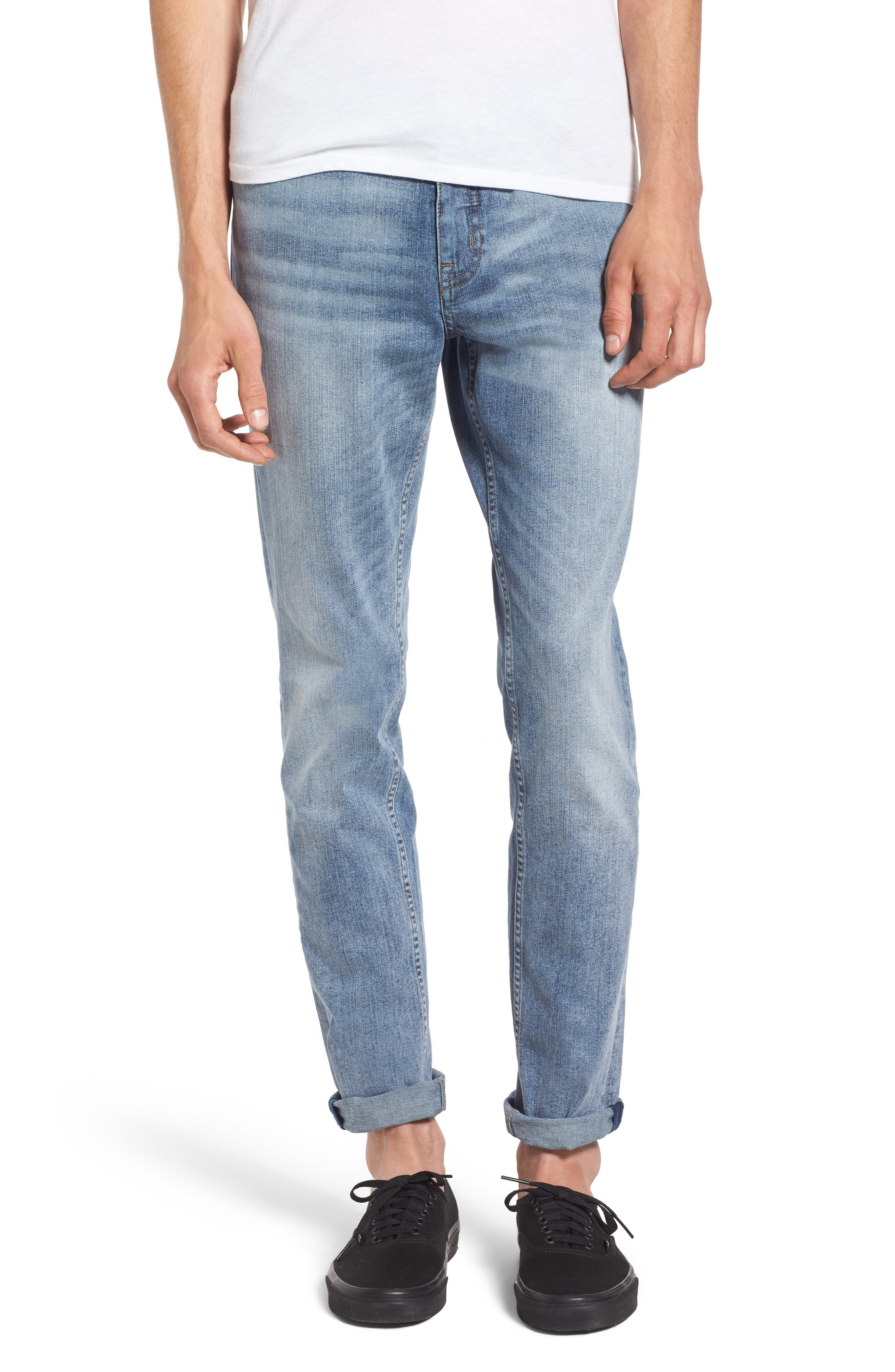 Main Image - Cheap Monday Sonic Skinny Fit Jeans (Treble Blue)
